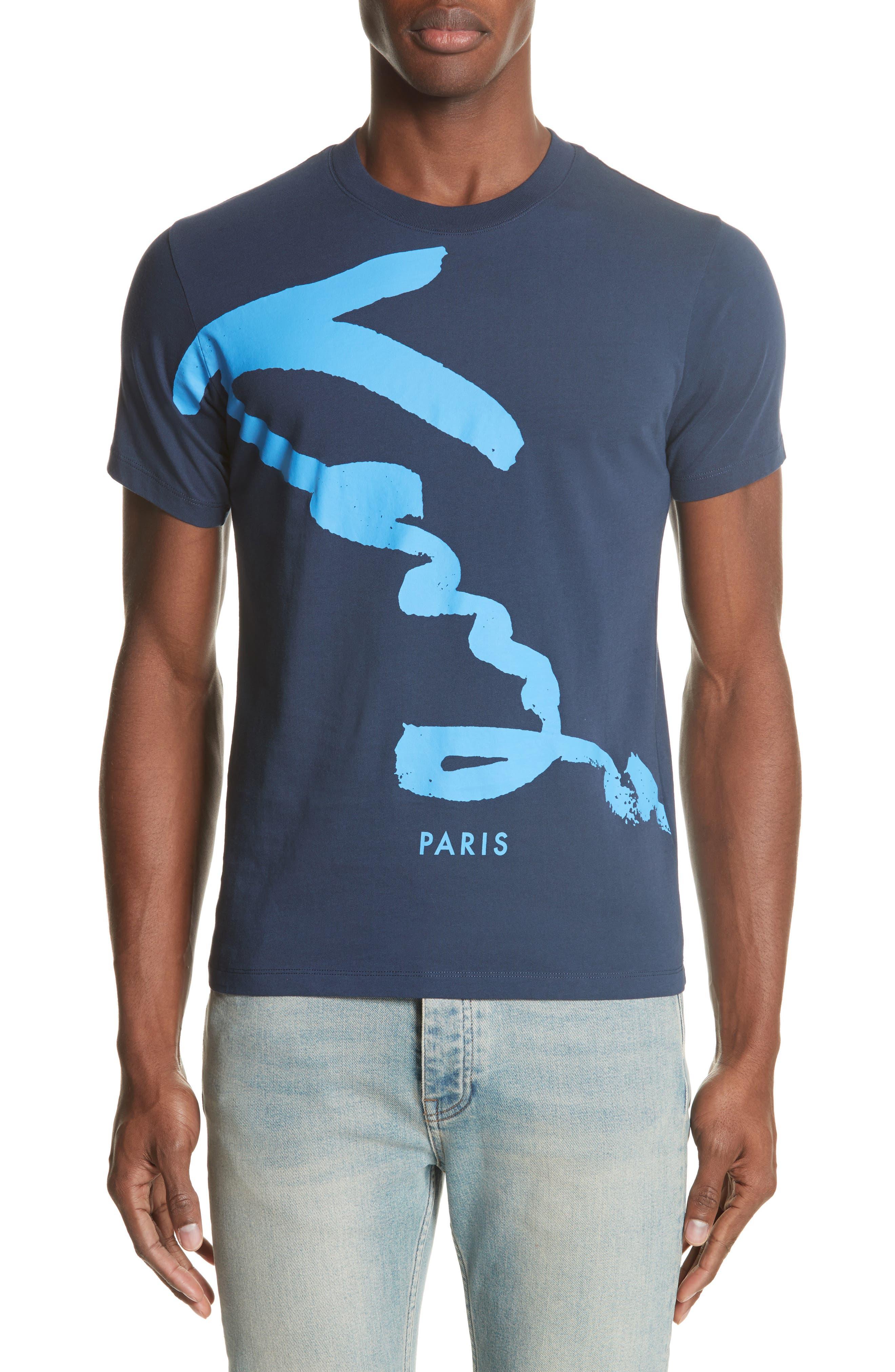 Cursive Logo Graphic T-Shirt,                             Main thumbnail 1, color,                             Ink