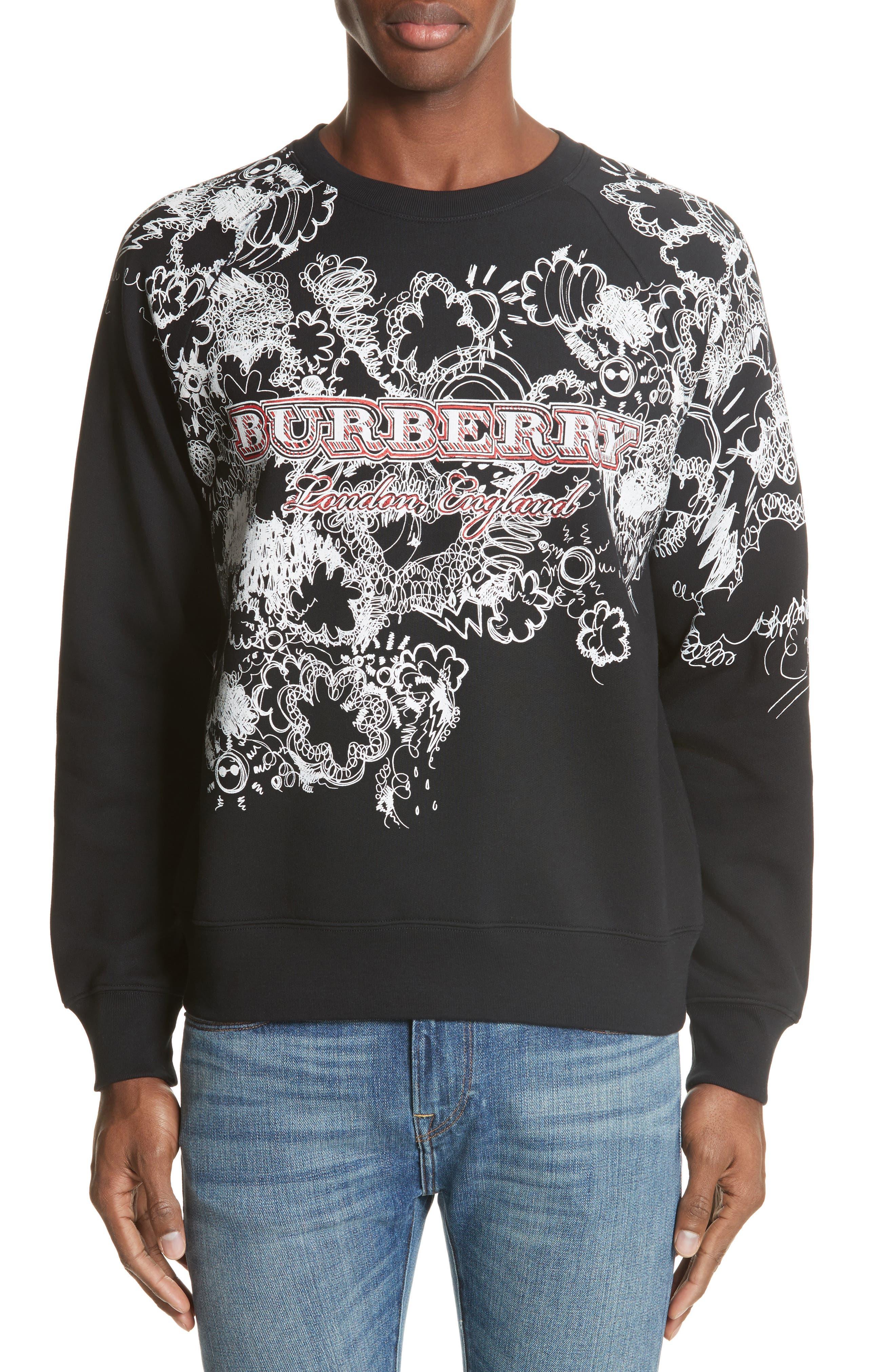 Main Image - Burberry Barford Crewneck Sweatshirt