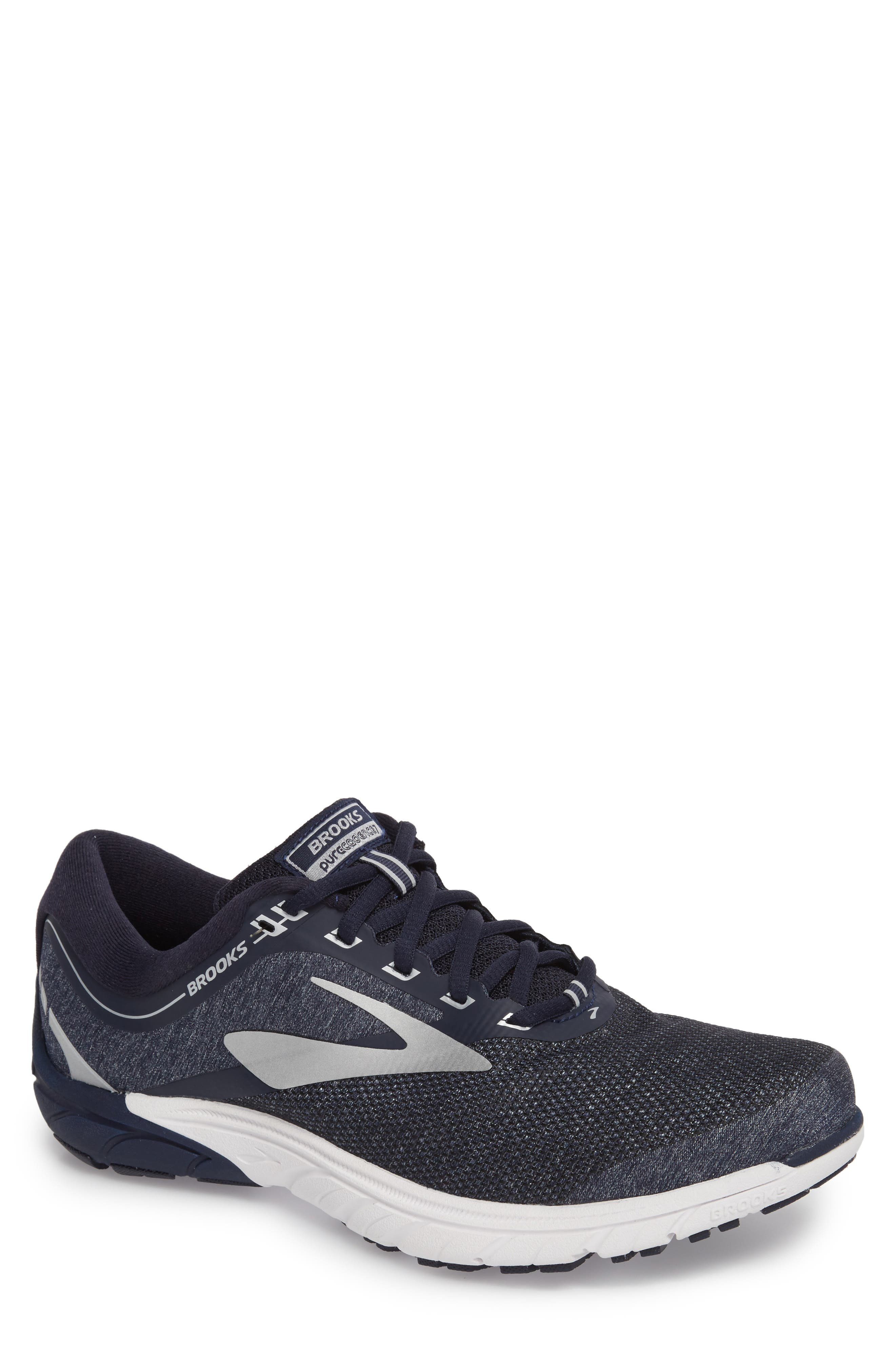 PureCadence 7 Road Running Shoe,                             Main thumbnail 1, color,                             Peacoat/ Silver/ White