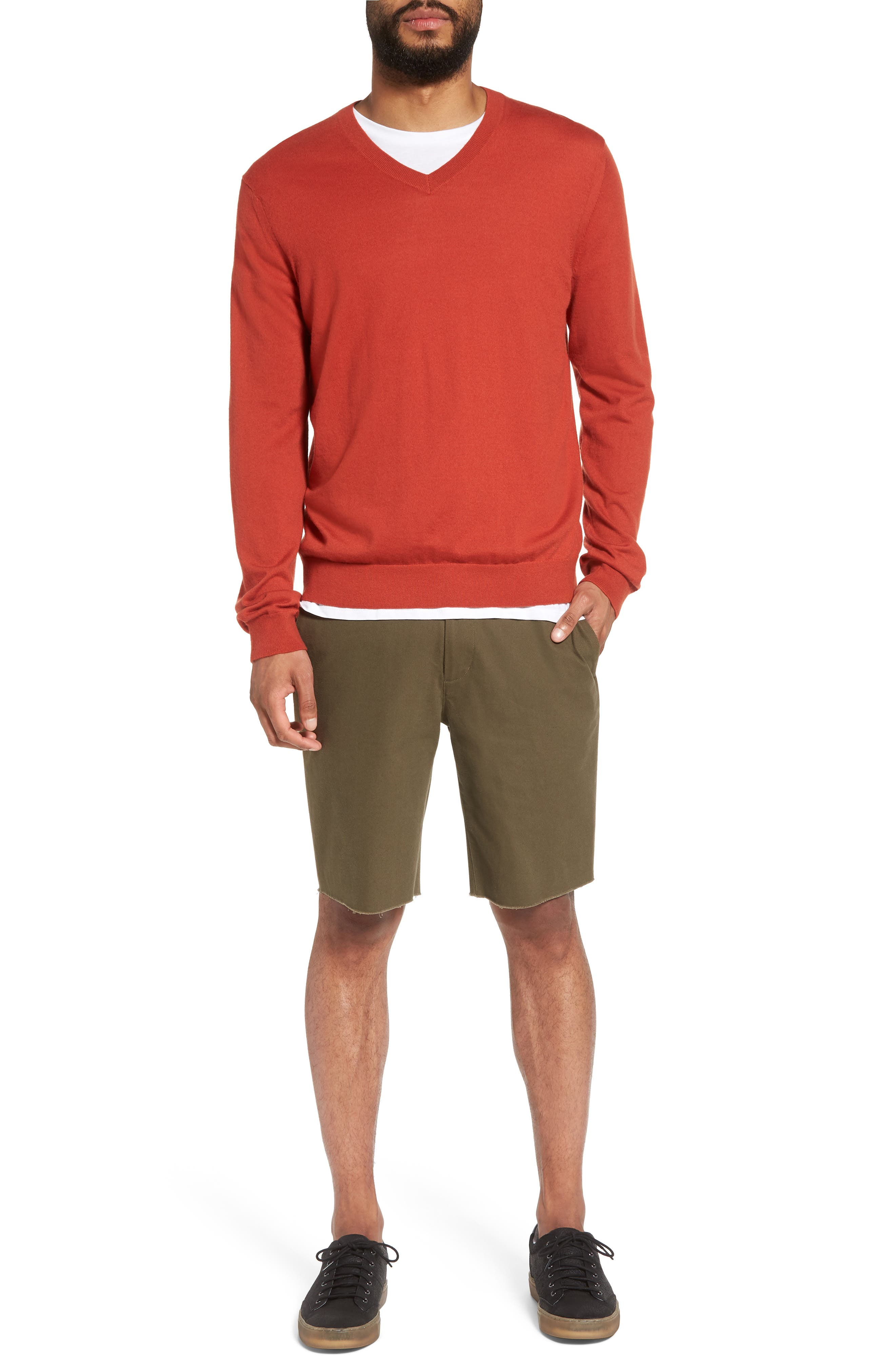 Slim Fit Chino Shorts,                             Alternate thumbnail 9, color,                             Camp Green