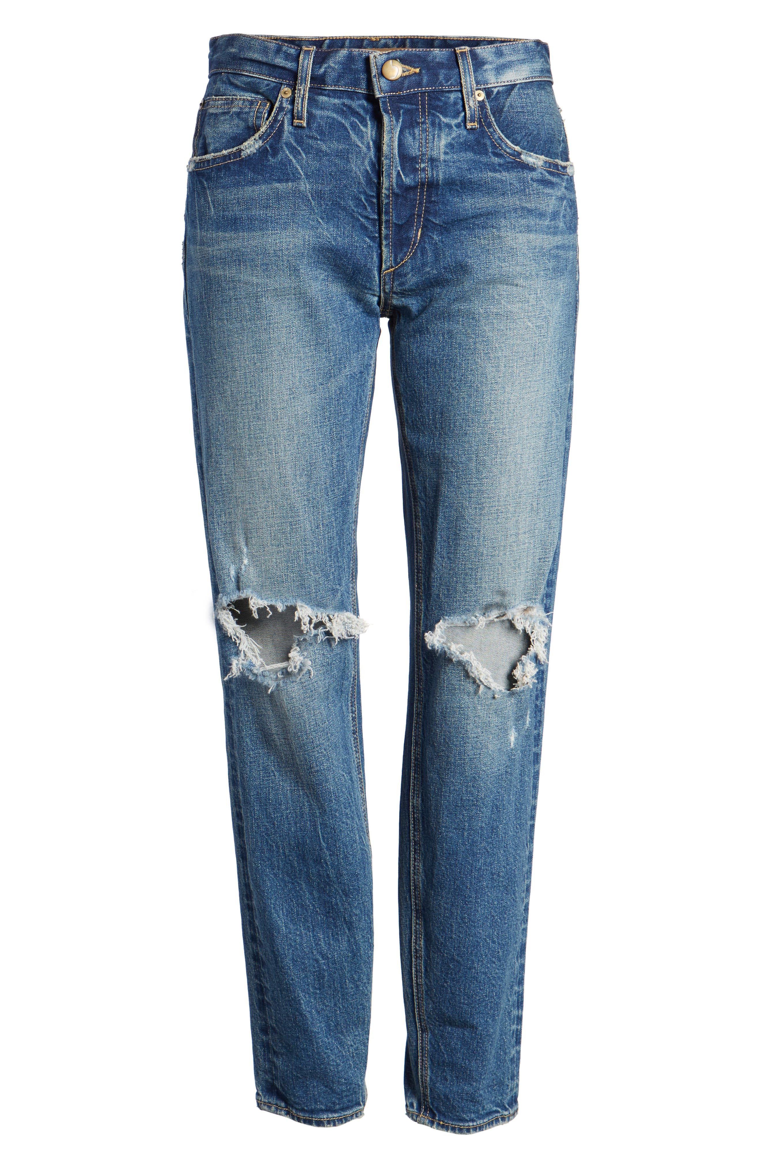 Vintage Icon Ankle Skinny Jeans,                             Alternate thumbnail 7, color,                             Bailee