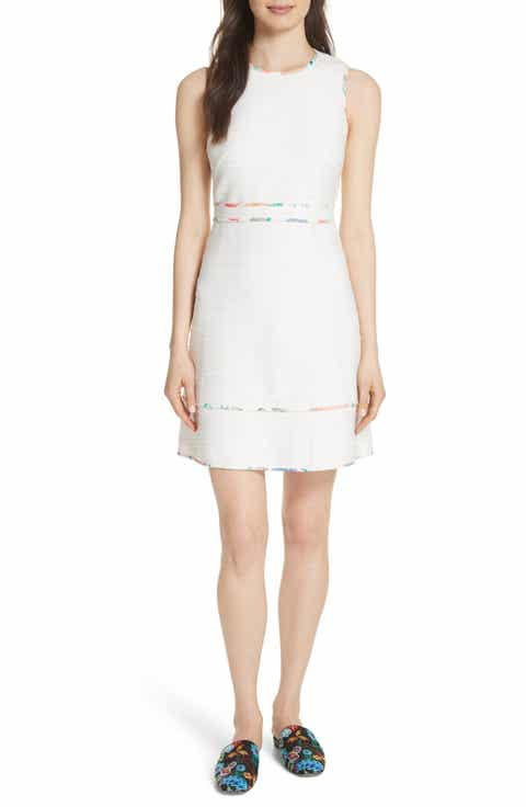 kate spade new york blossom trim tweed dress