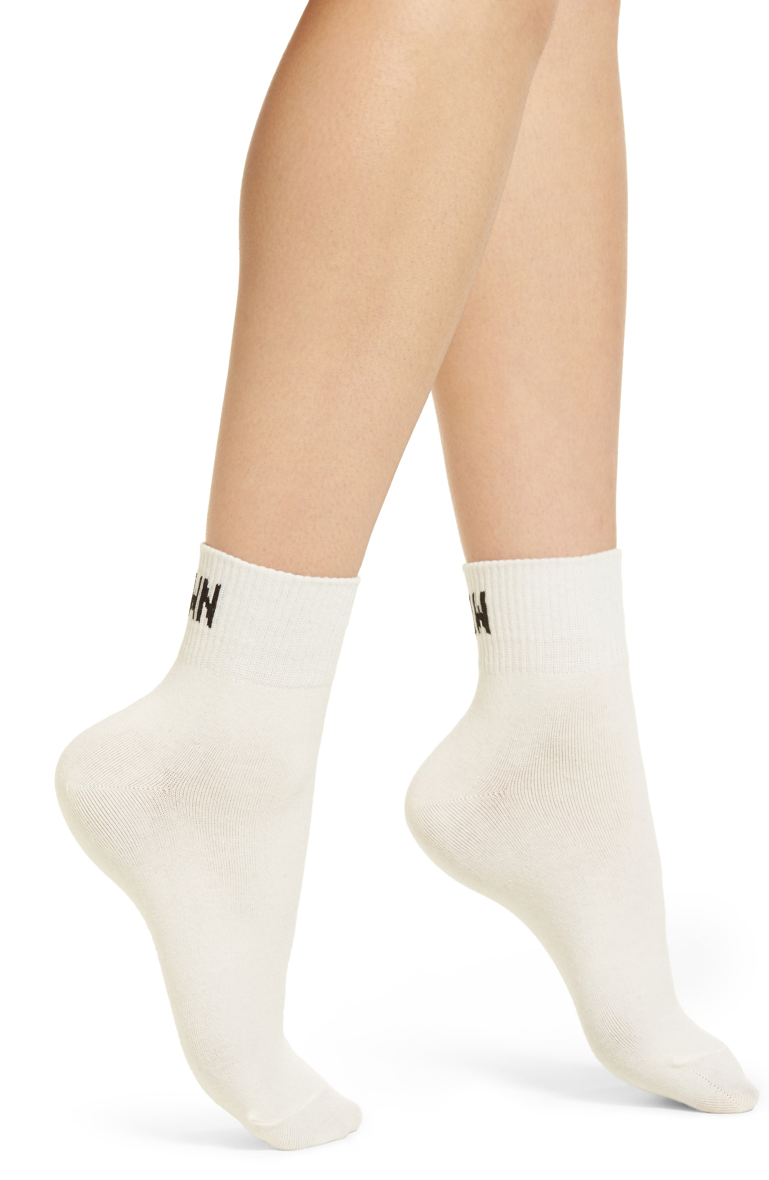 Slow Down Ankle Socks,                             Main thumbnail 1, color,                             White