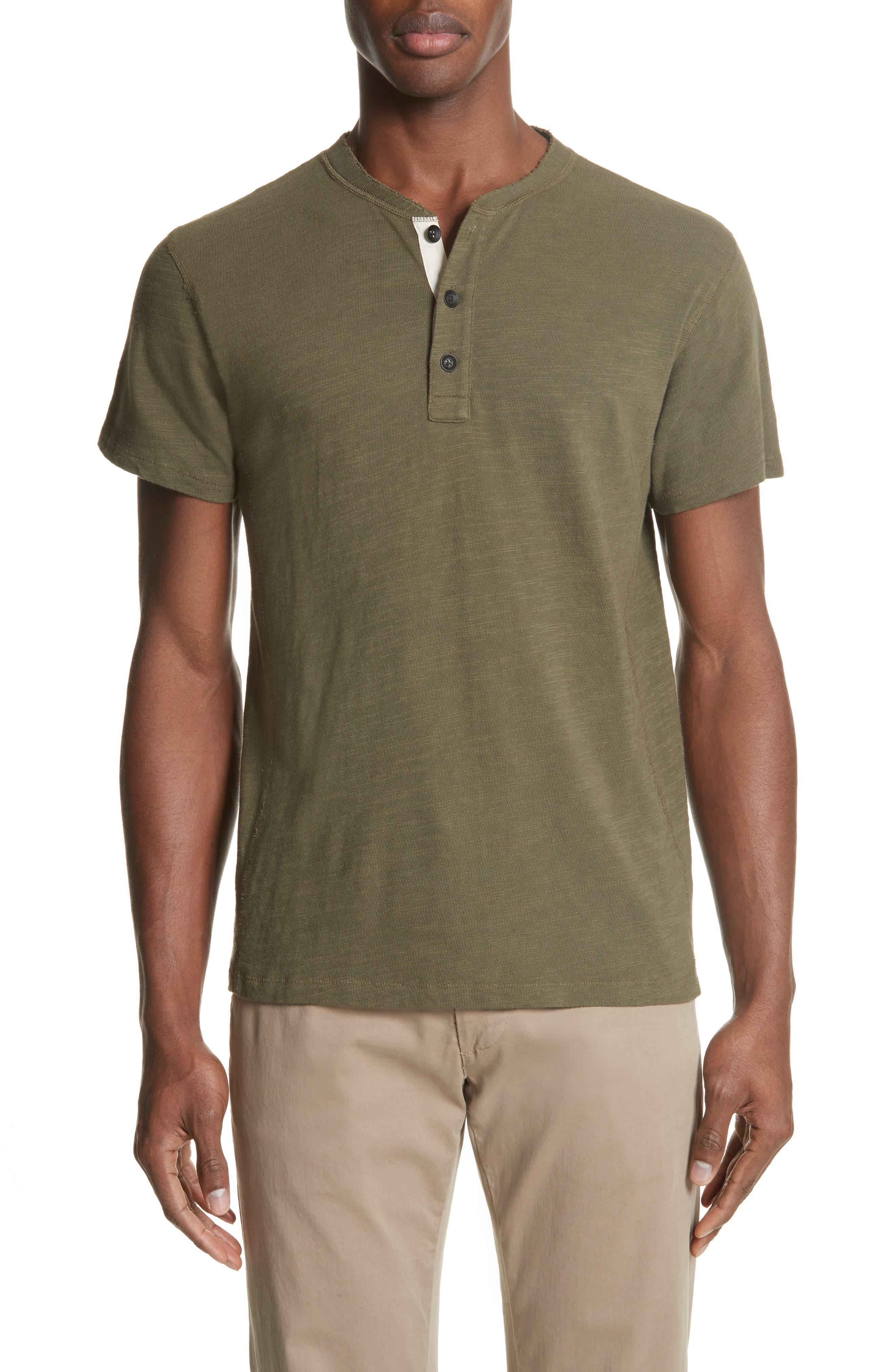 Standard Issue Henley,                         Main,                         color, Army