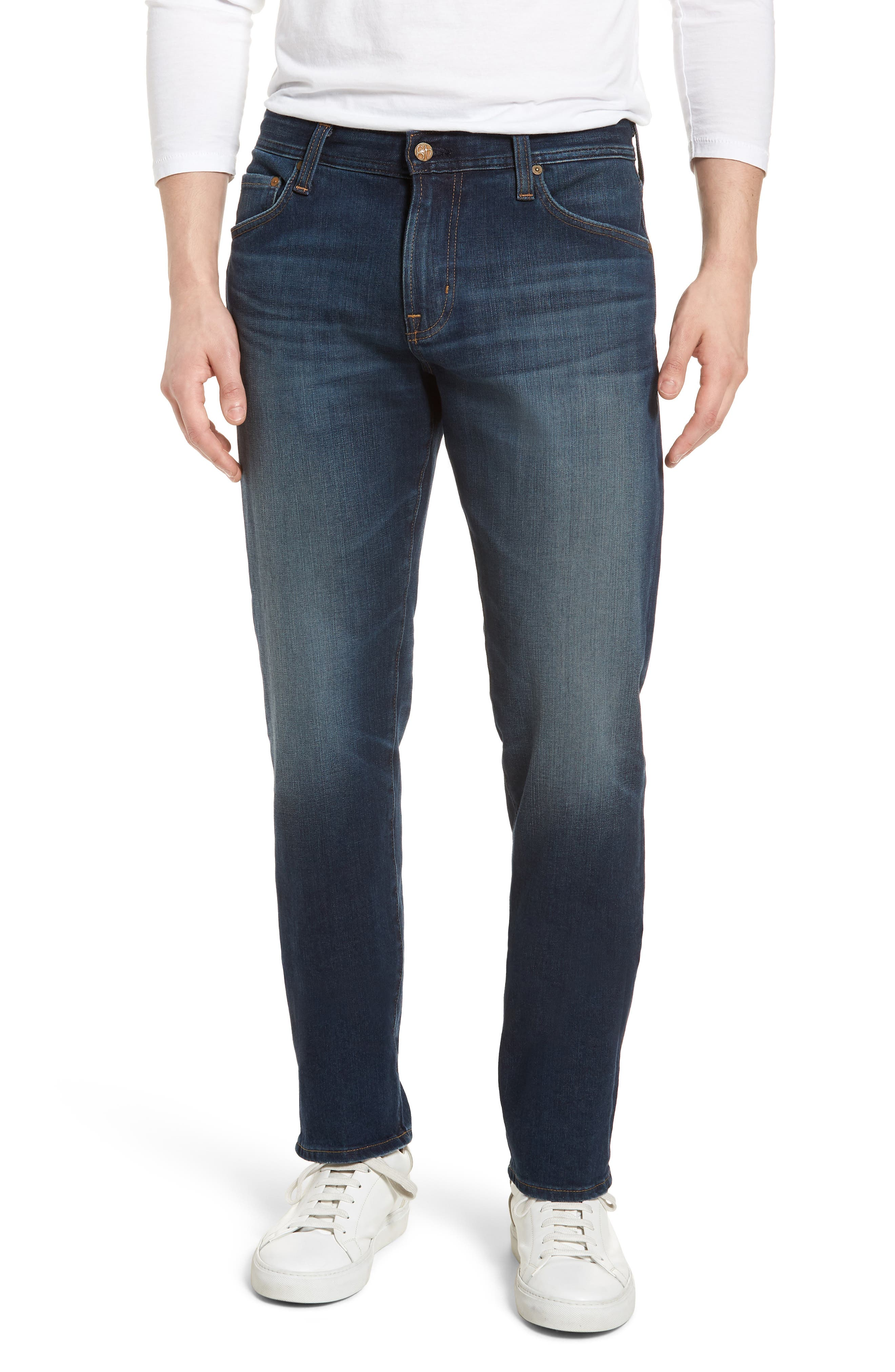 Graduate Slim Straight Leg Jeans,                             Main thumbnail 1, color,                             9 Years Faring
