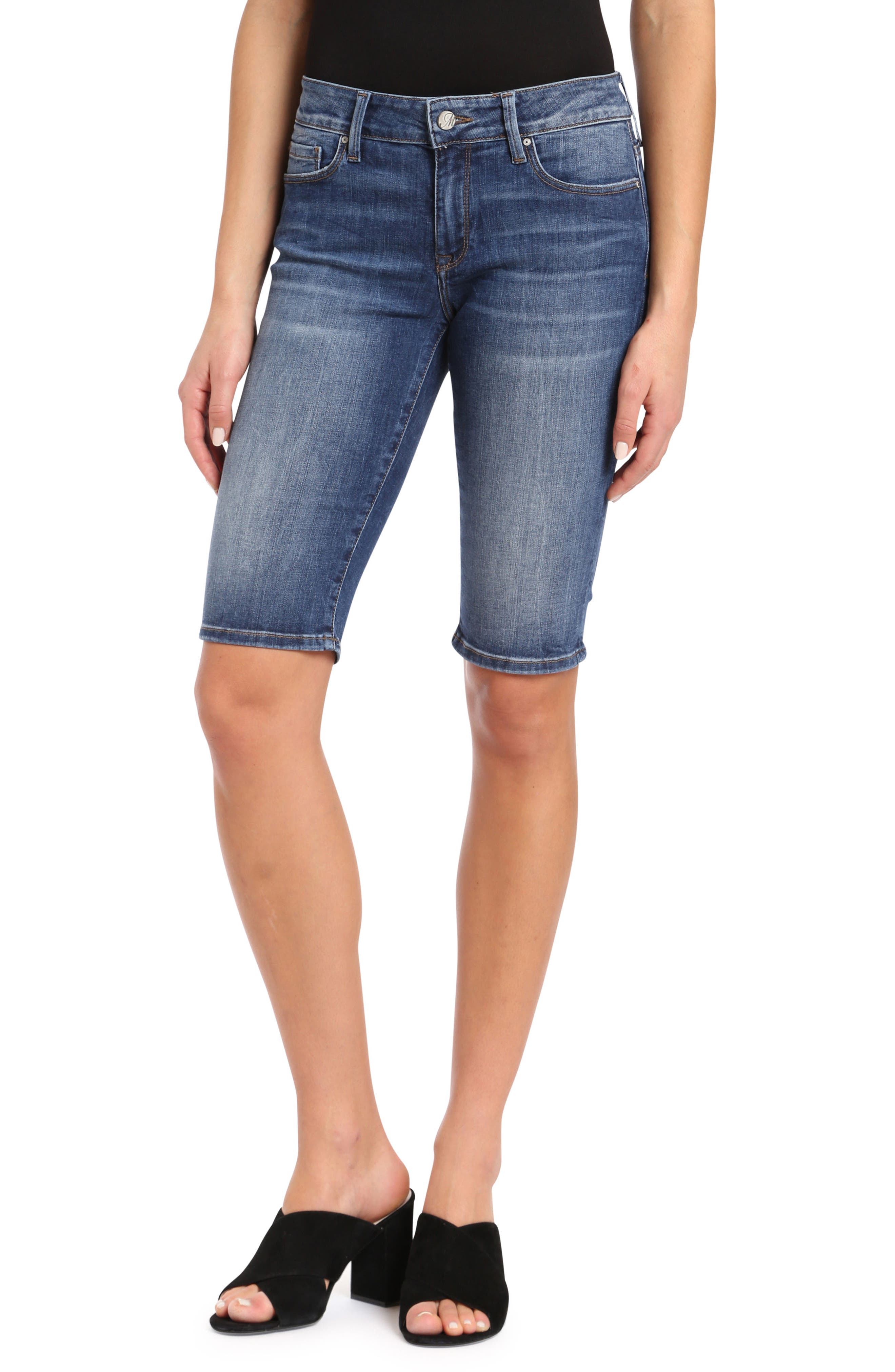 Karly Bermuda Shorts,                             Main thumbnail 1, color,                             Dark Indigo Tribeca