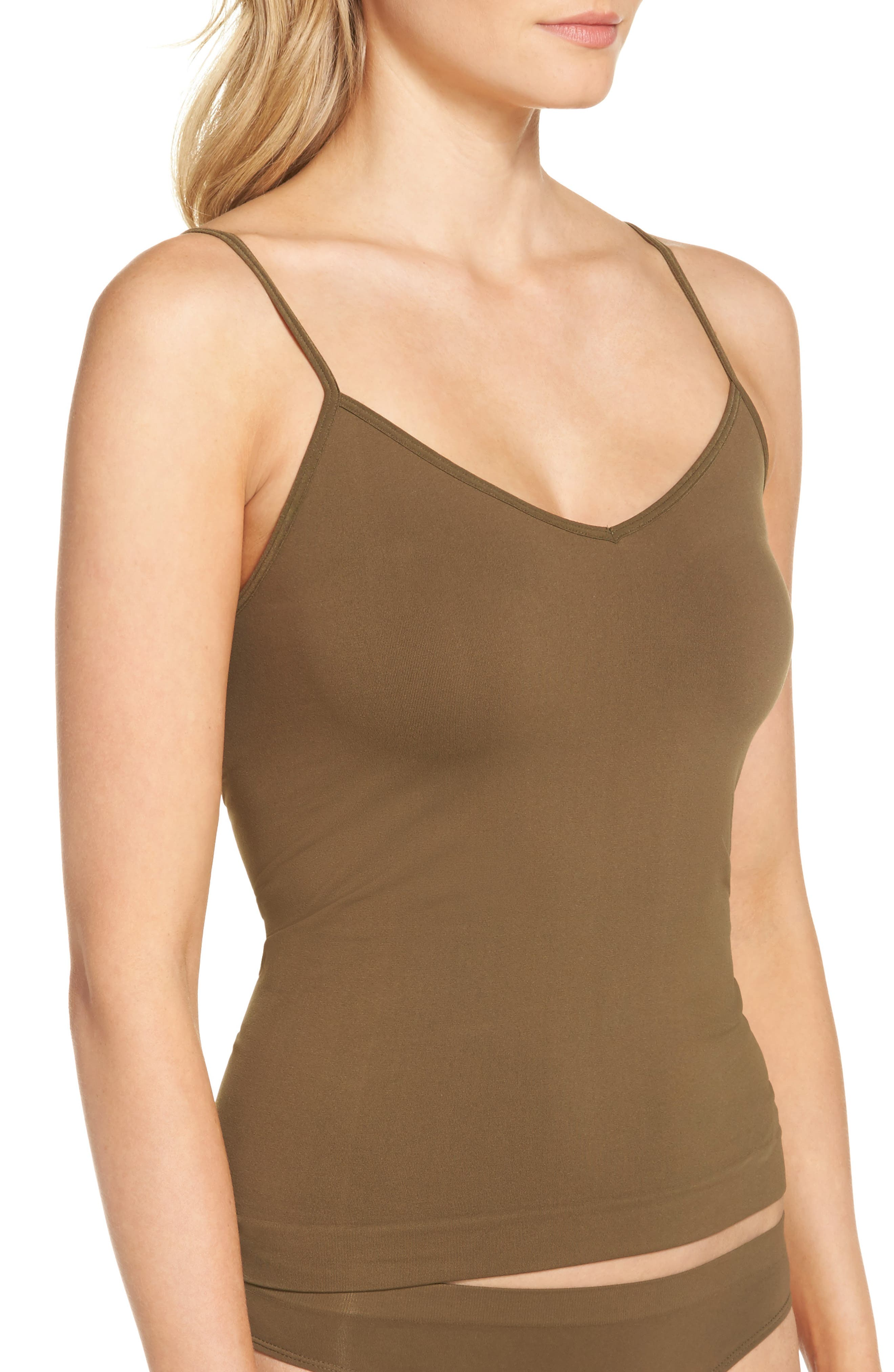 Seamless Two-Way Camisole,                             Alternate thumbnail 3, color,                             Olive Tree