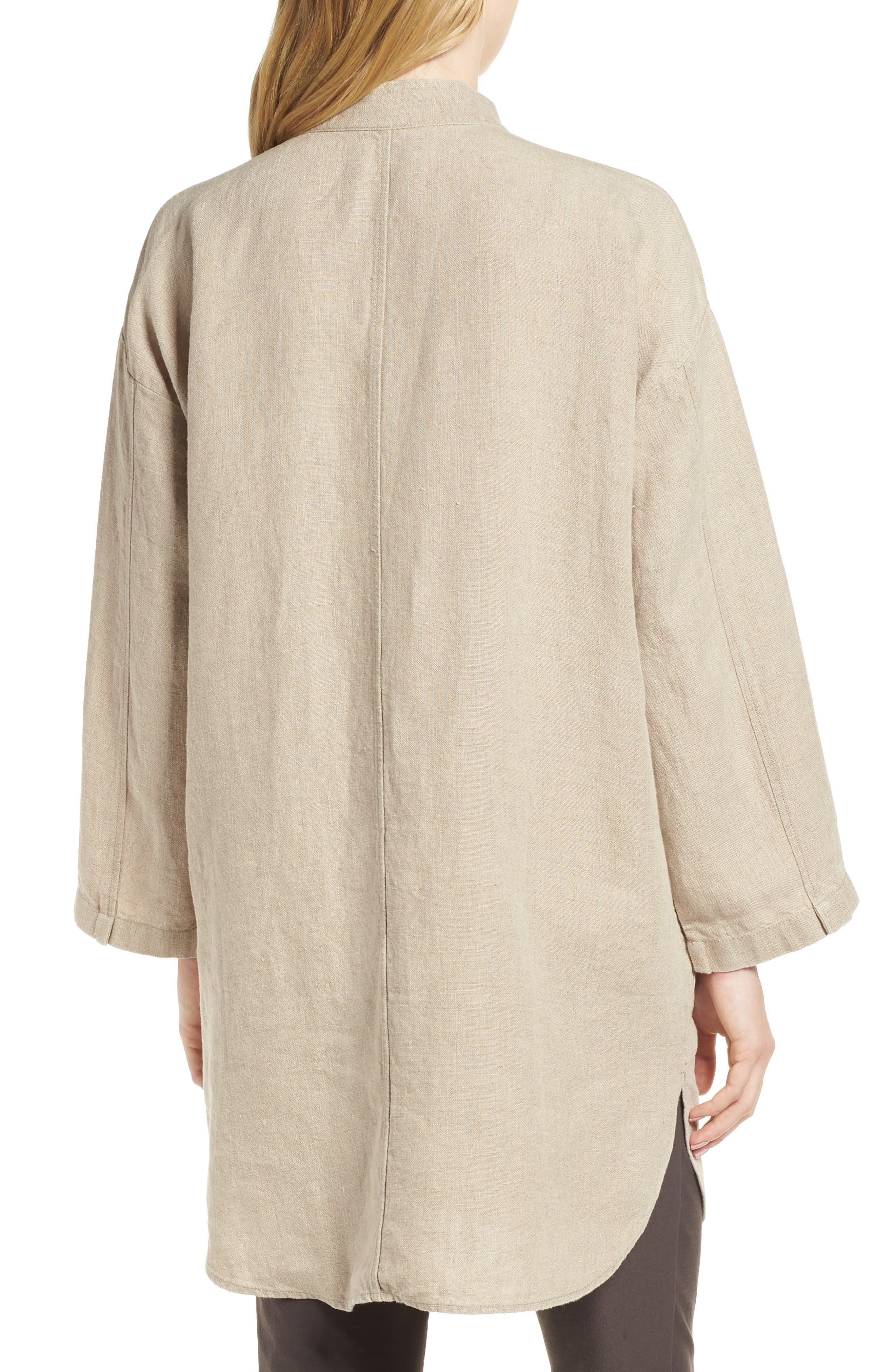 Organic Linen Jacket,                             Alternate thumbnail 2, color,                             Undyed Natural