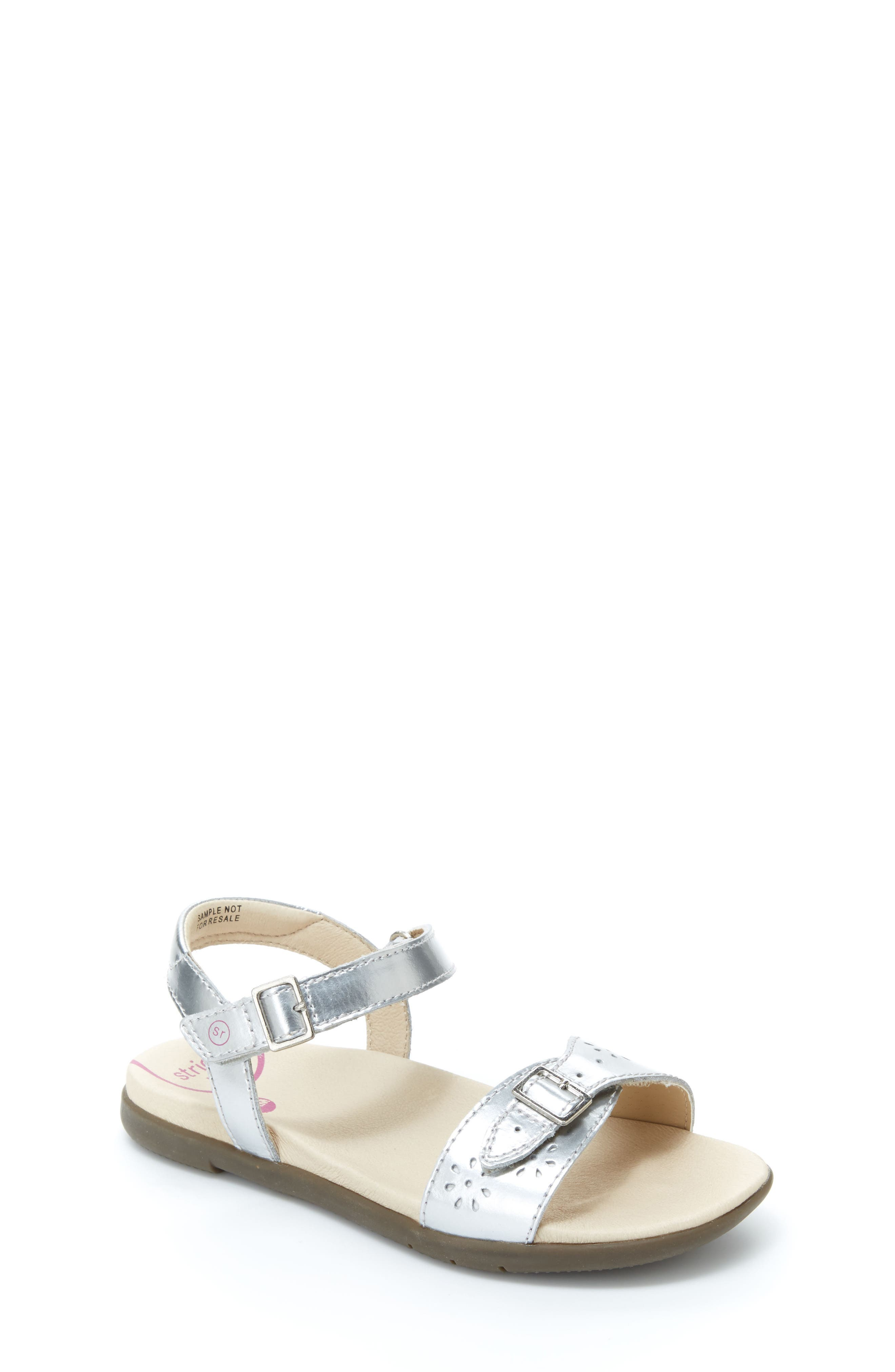 Roxanna Sandal,                         Main,                         color, Silver Patent Leather
