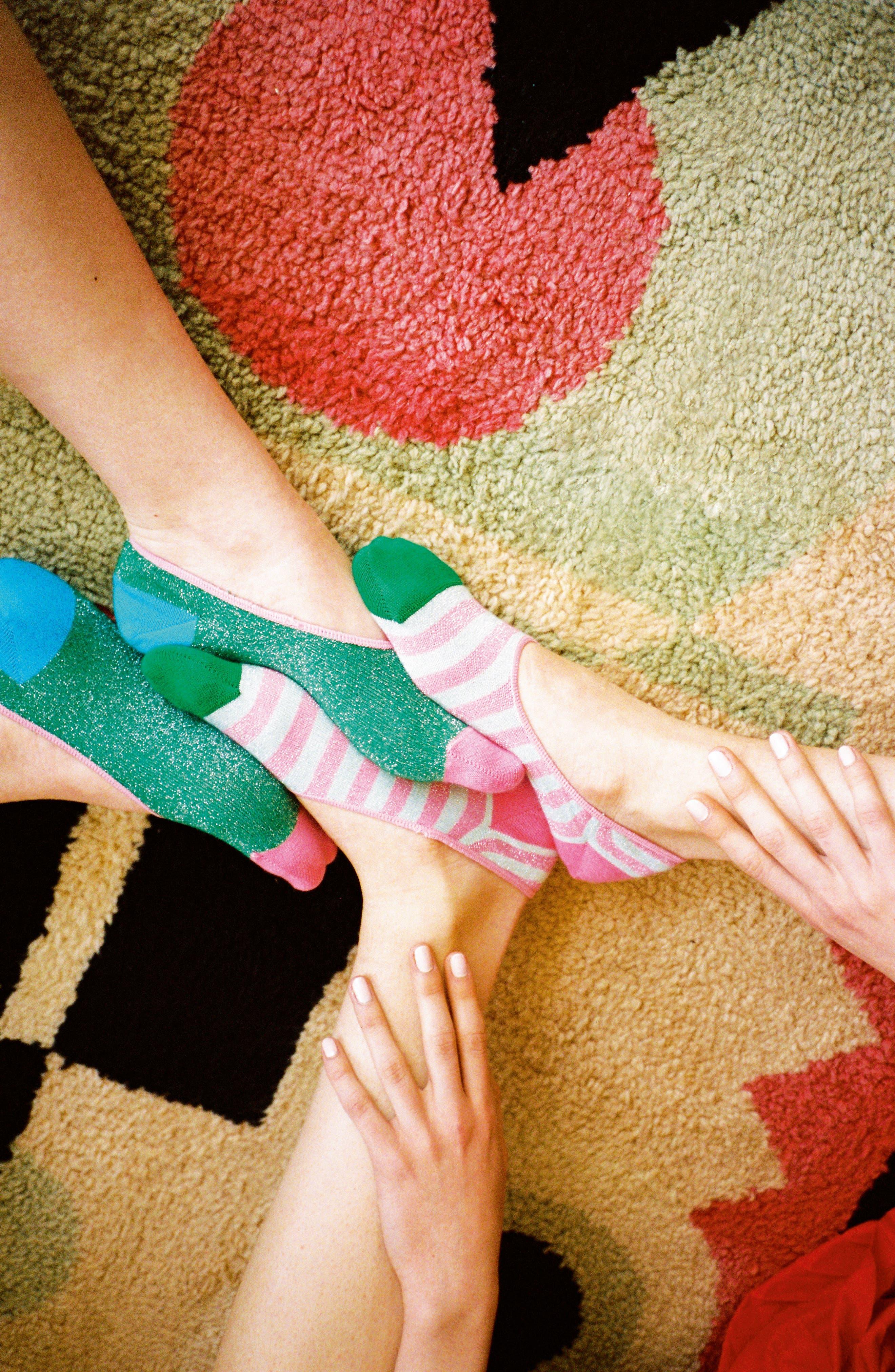 2-Pack Claudia No-Show Socks,                             Alternate thumbnail 3, color,                             Pink