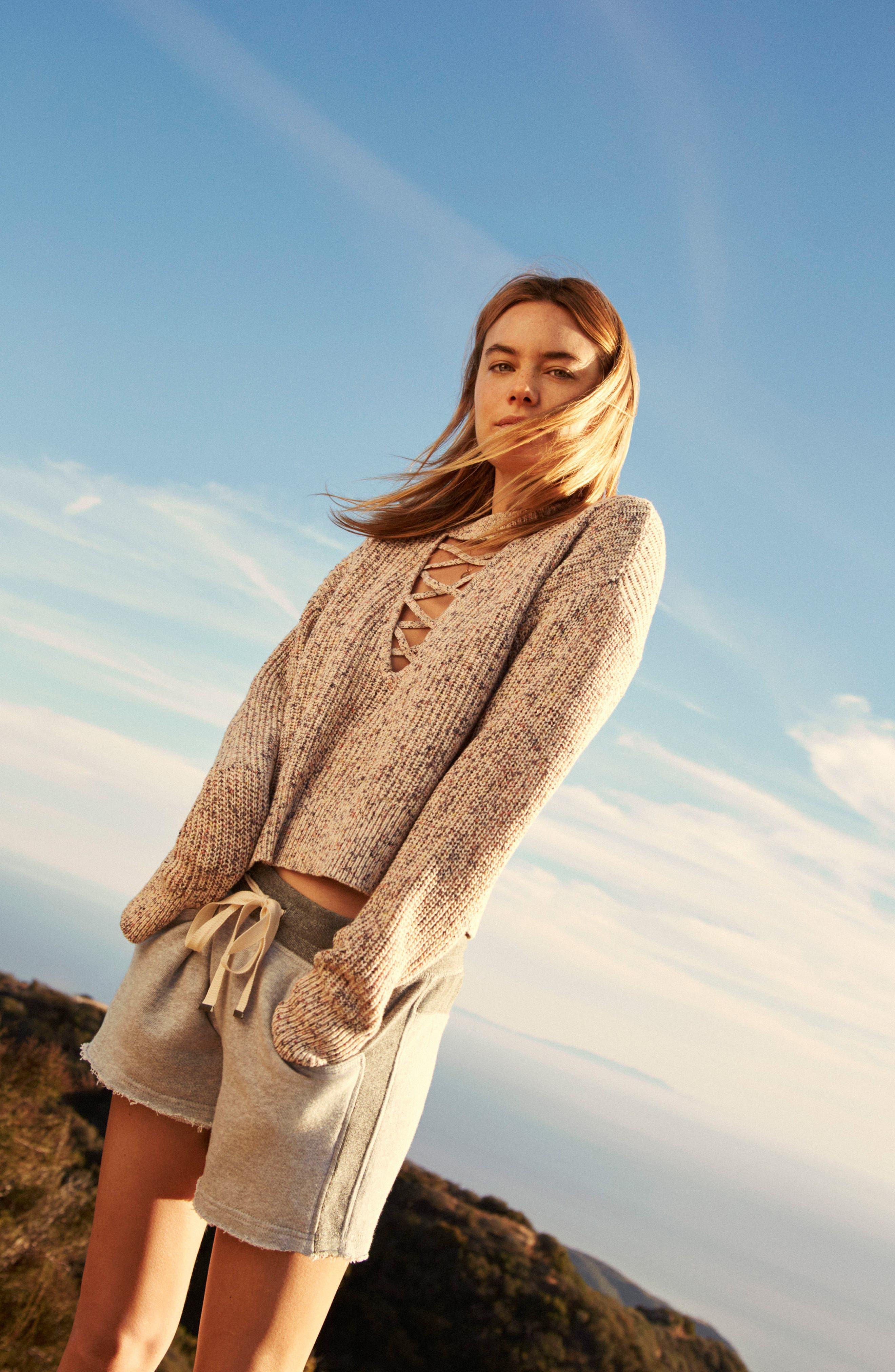 Plunging Crisscross Sweater,                             Alternate thumbnail 2, color,                             Glow Multi