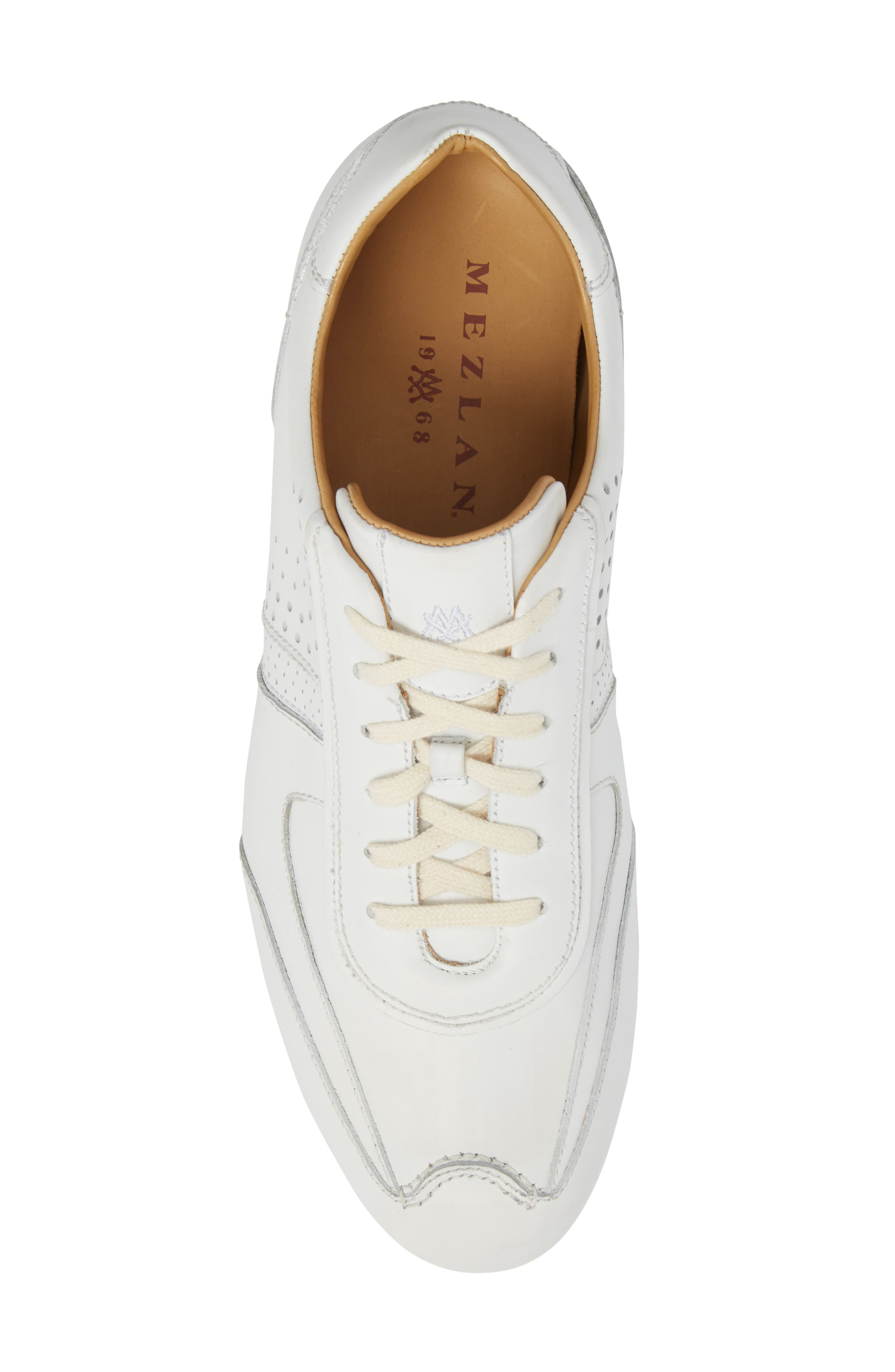 Lozano II Low Top Sneaker,                             Alternate thumbnail 5, color,                             White Leather