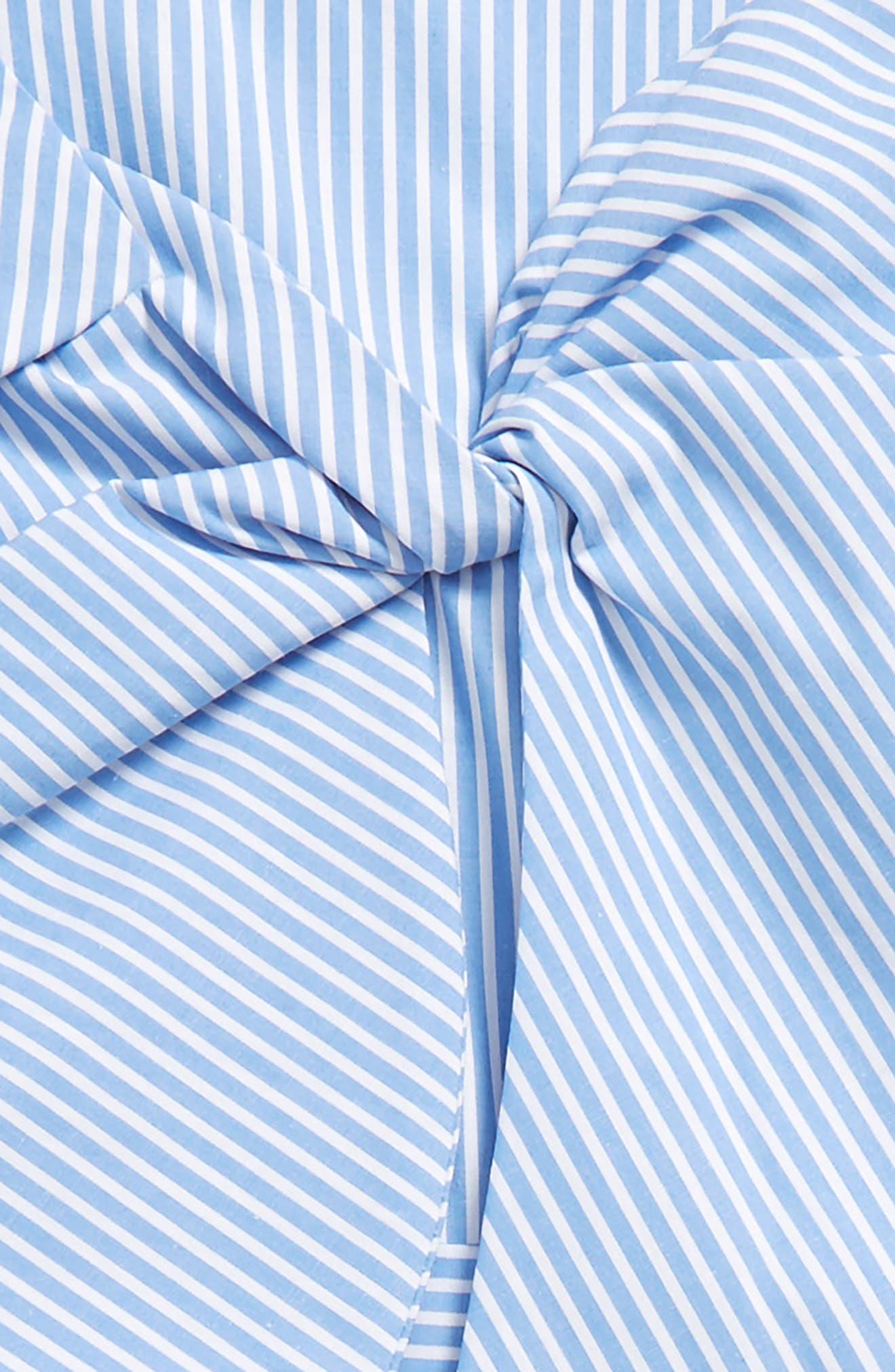 Junior Jen Stripe Bow Romper,                             Alternate thumbnail 2, color,                             Placid Blue Stripe