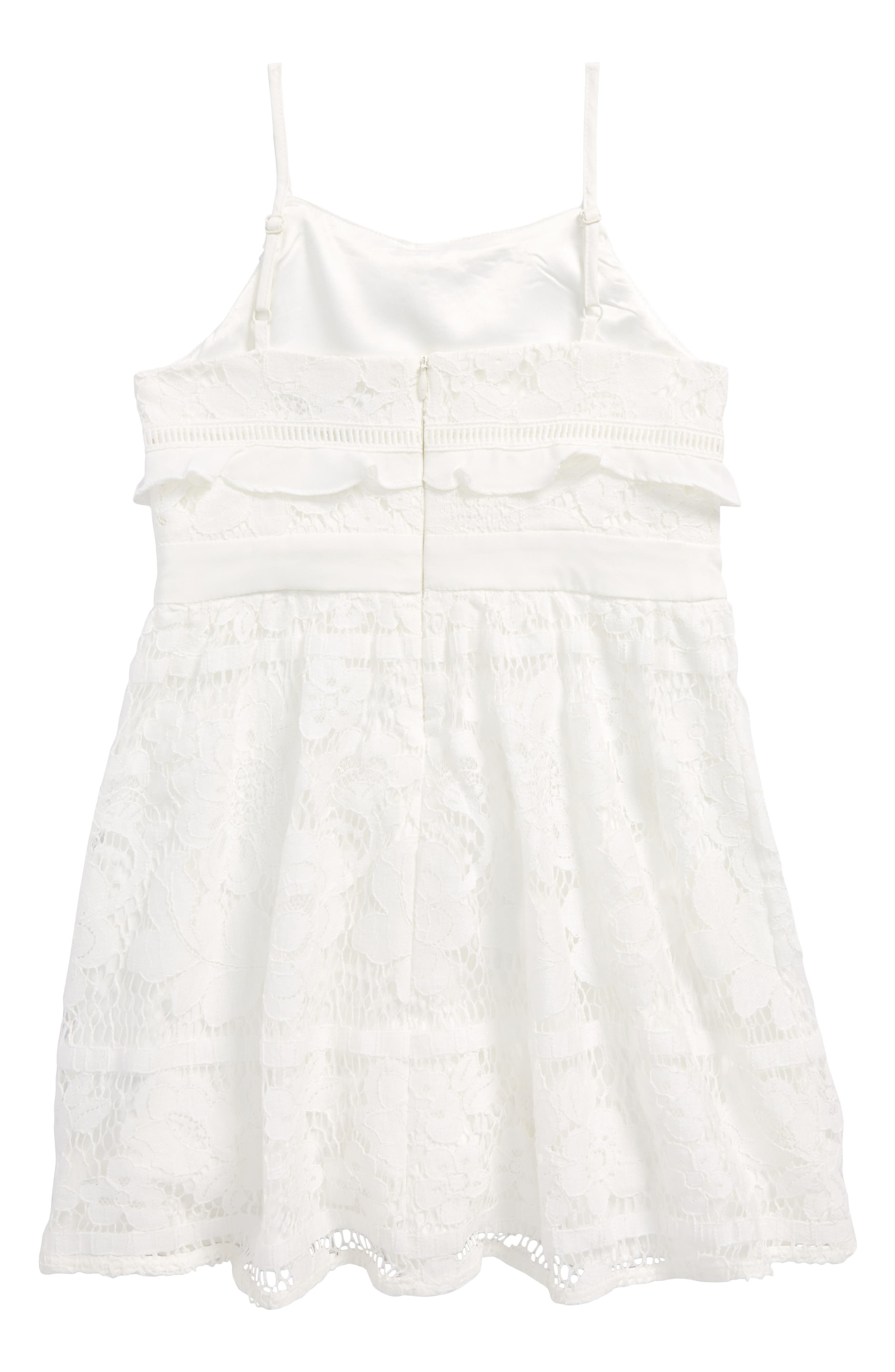 Vienna Lace Sundress,                             Alternate thumbnail 2, color,                             Orchid White