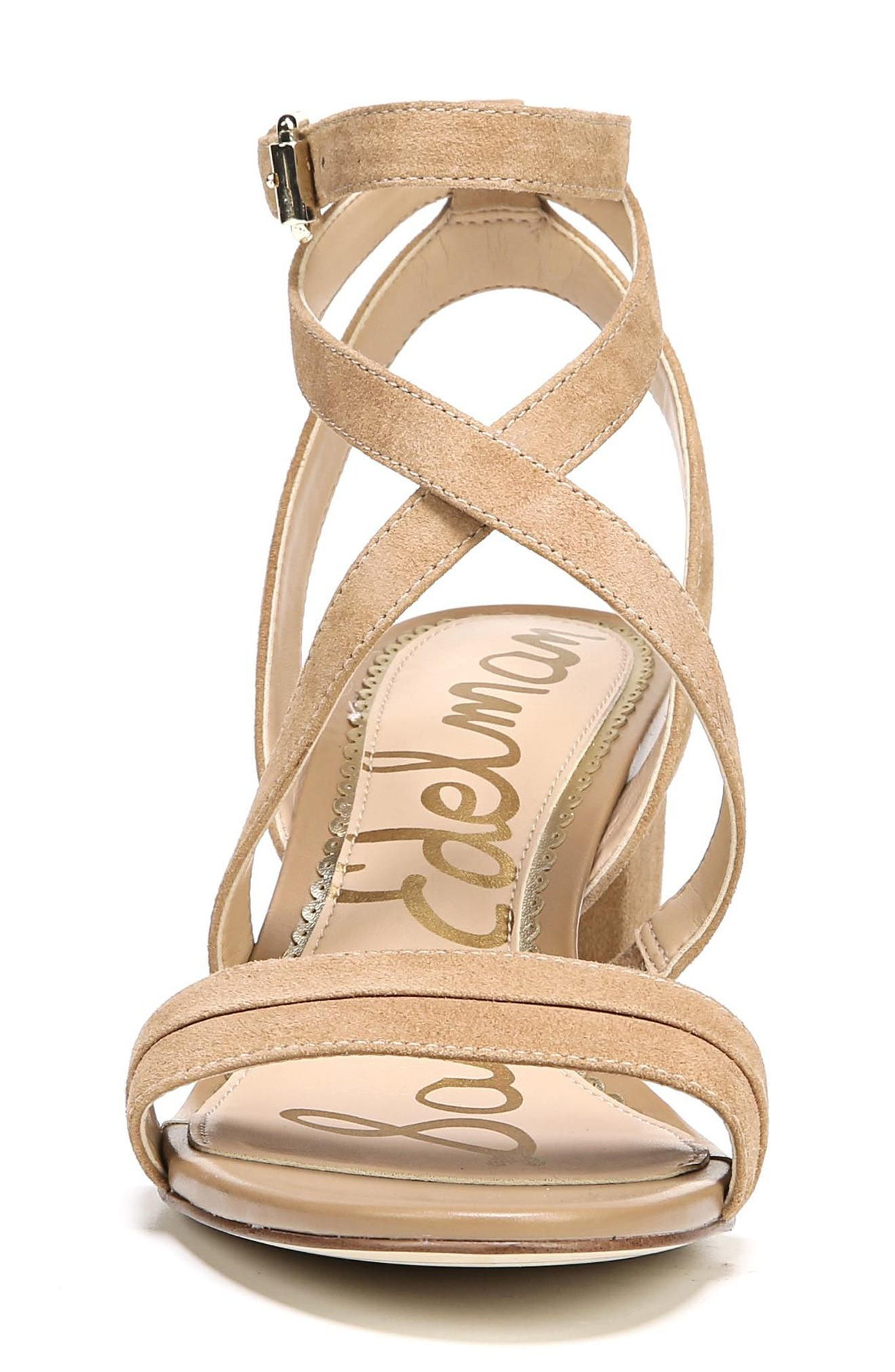 Sammy Sandal,                             Alternate thumbnail 4, color,                             Golden Caramel Suede