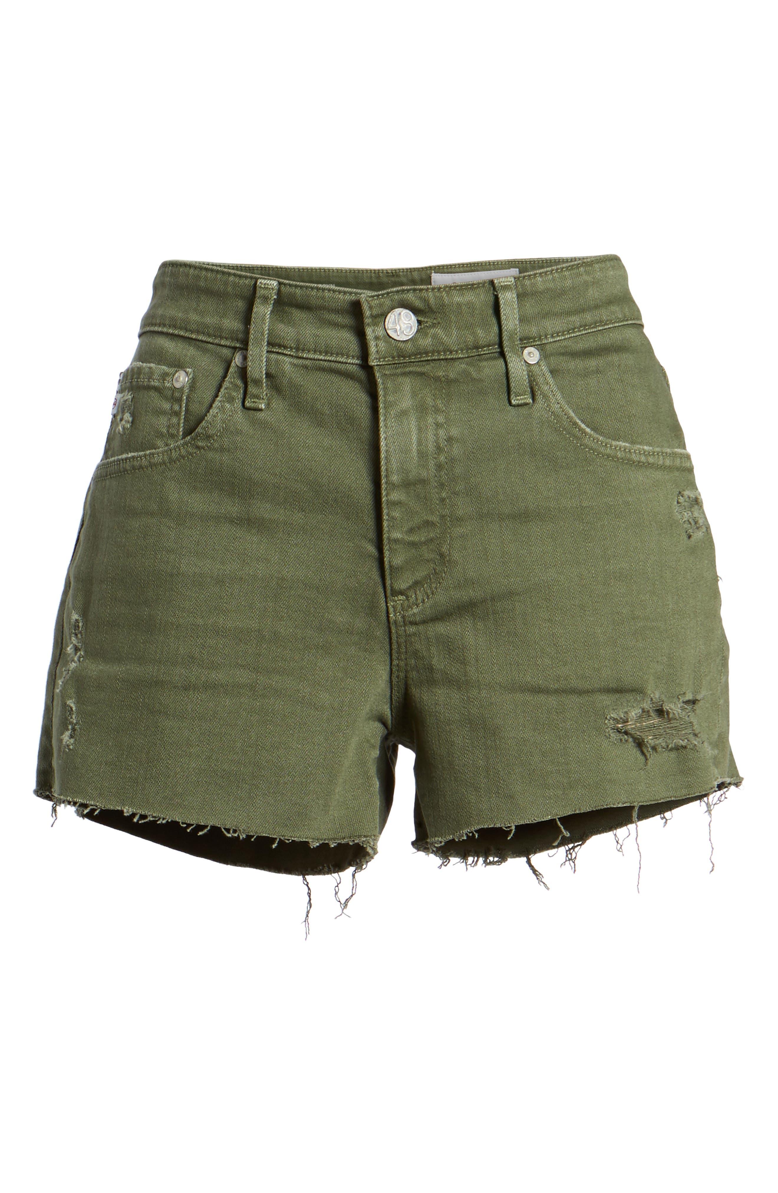 The Bryn High Waist Cutoff Denim Shorts,                             Alternate thumbnail 3, color,                             10 Years Remedy Desert Pine