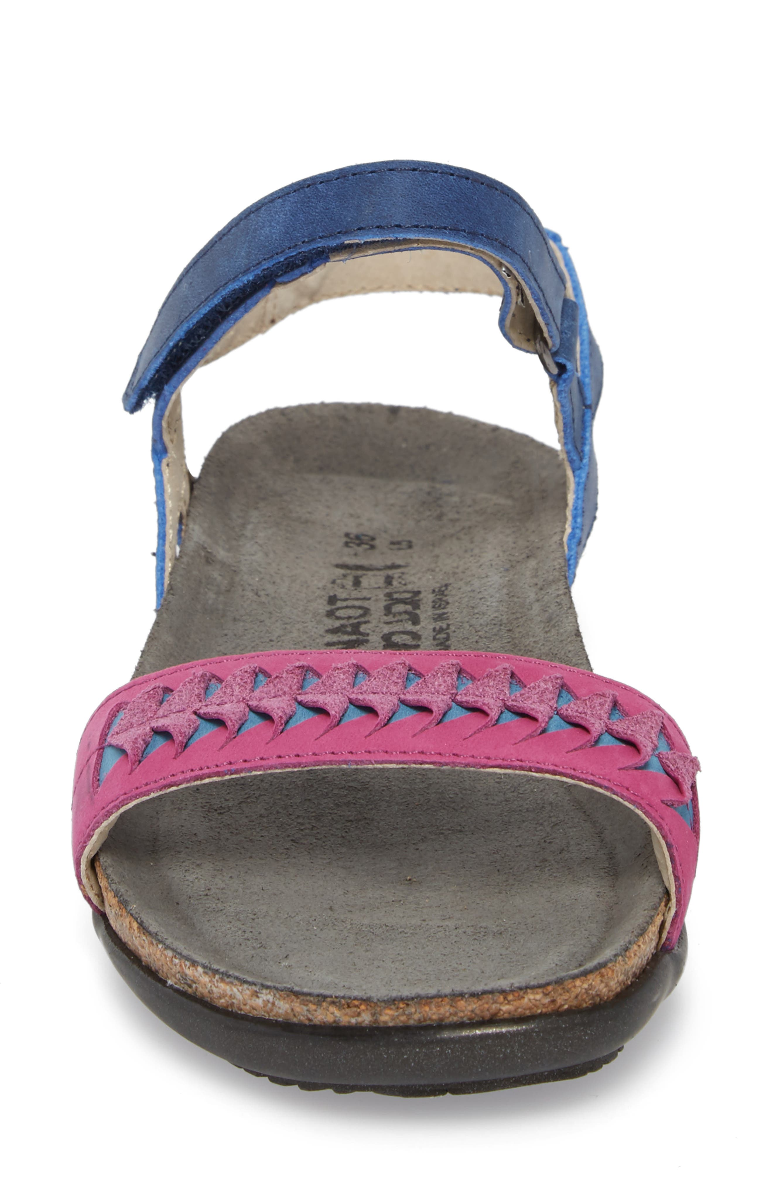 Marble Sandal,                             Alternate thumbnail 4, color,                             Oily Blue Nubuck