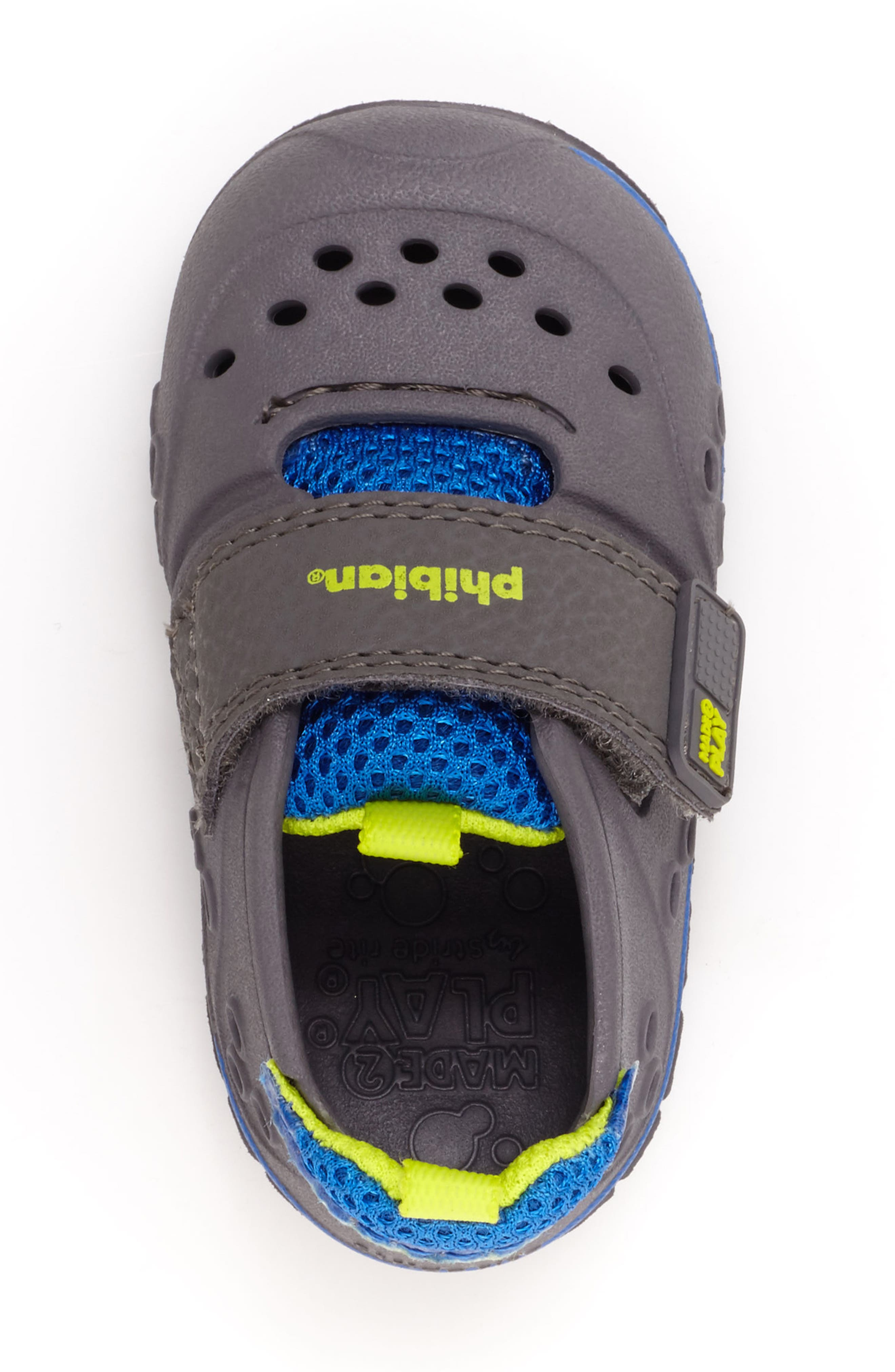 'Made2Play<sup>®</sup> Phibian' Sneaker,                             Alternate thumbnail 4, color,                             Grey/ Grey