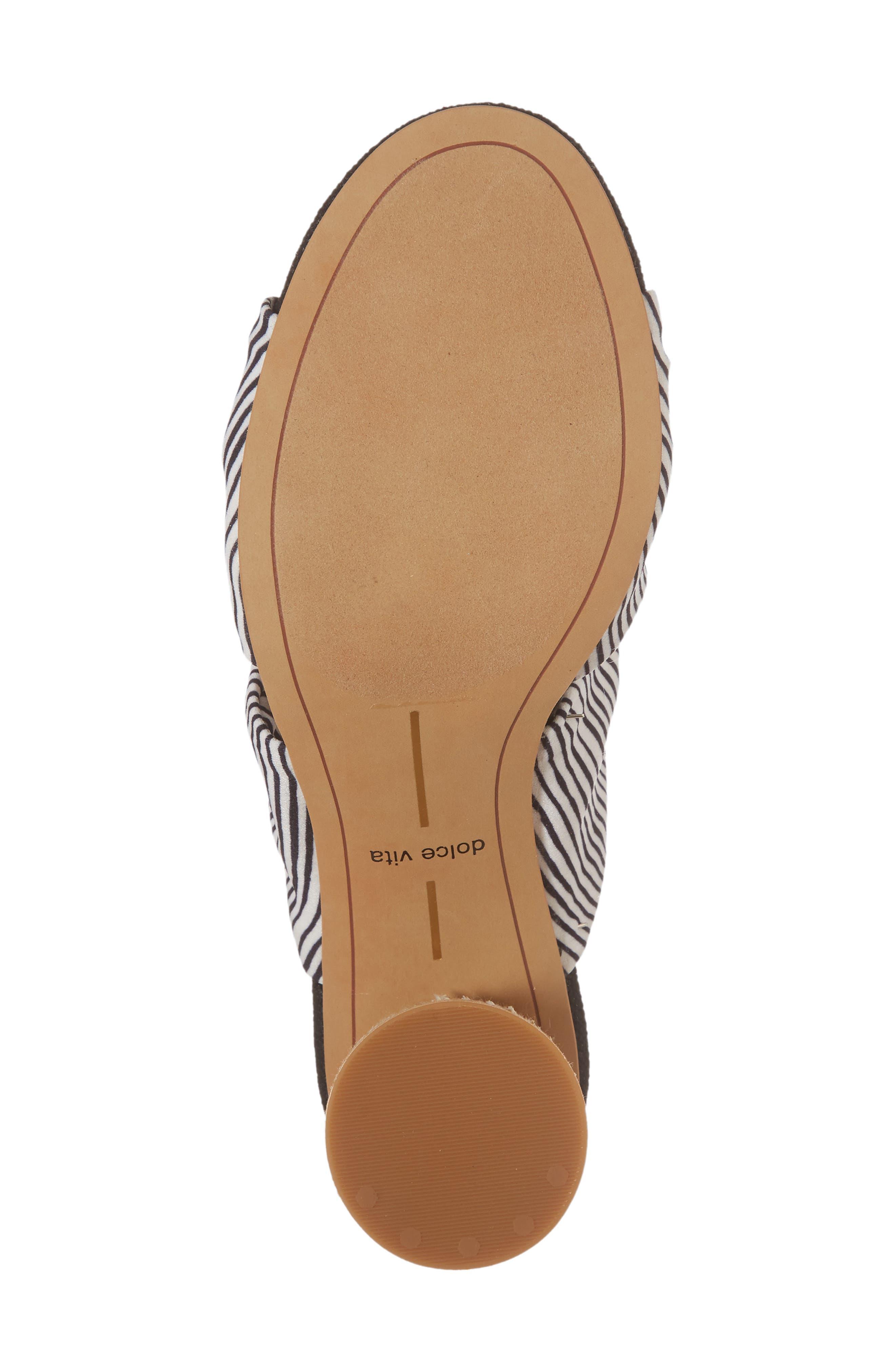 Jene Double Knot Sandal,                             Alternate thumbnail 6, color,                             White Stripe