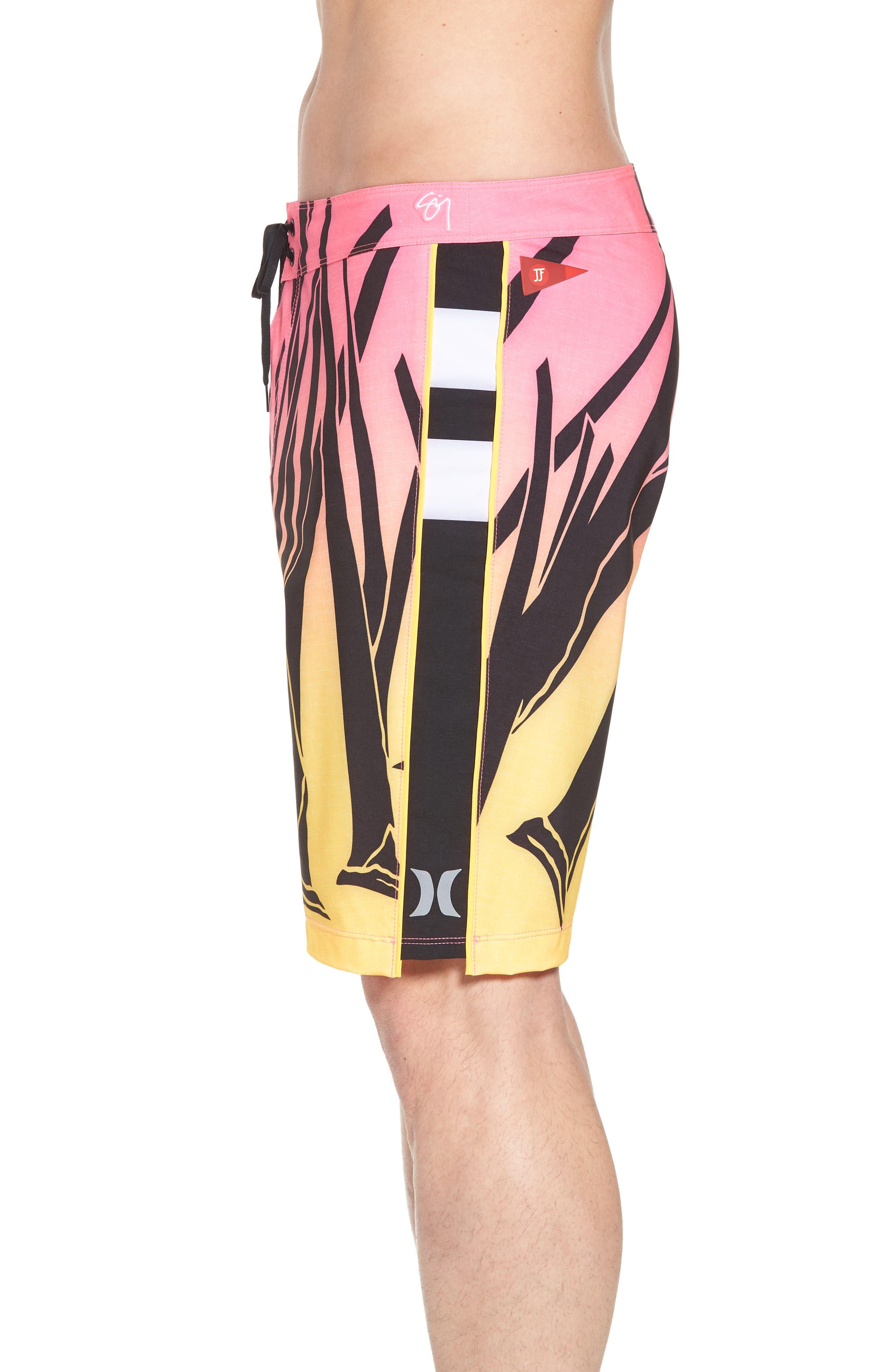 JJF IV Kahuliwae Board Shorts,                             Alternate thumbnail 3, color,                             Hyper Pink