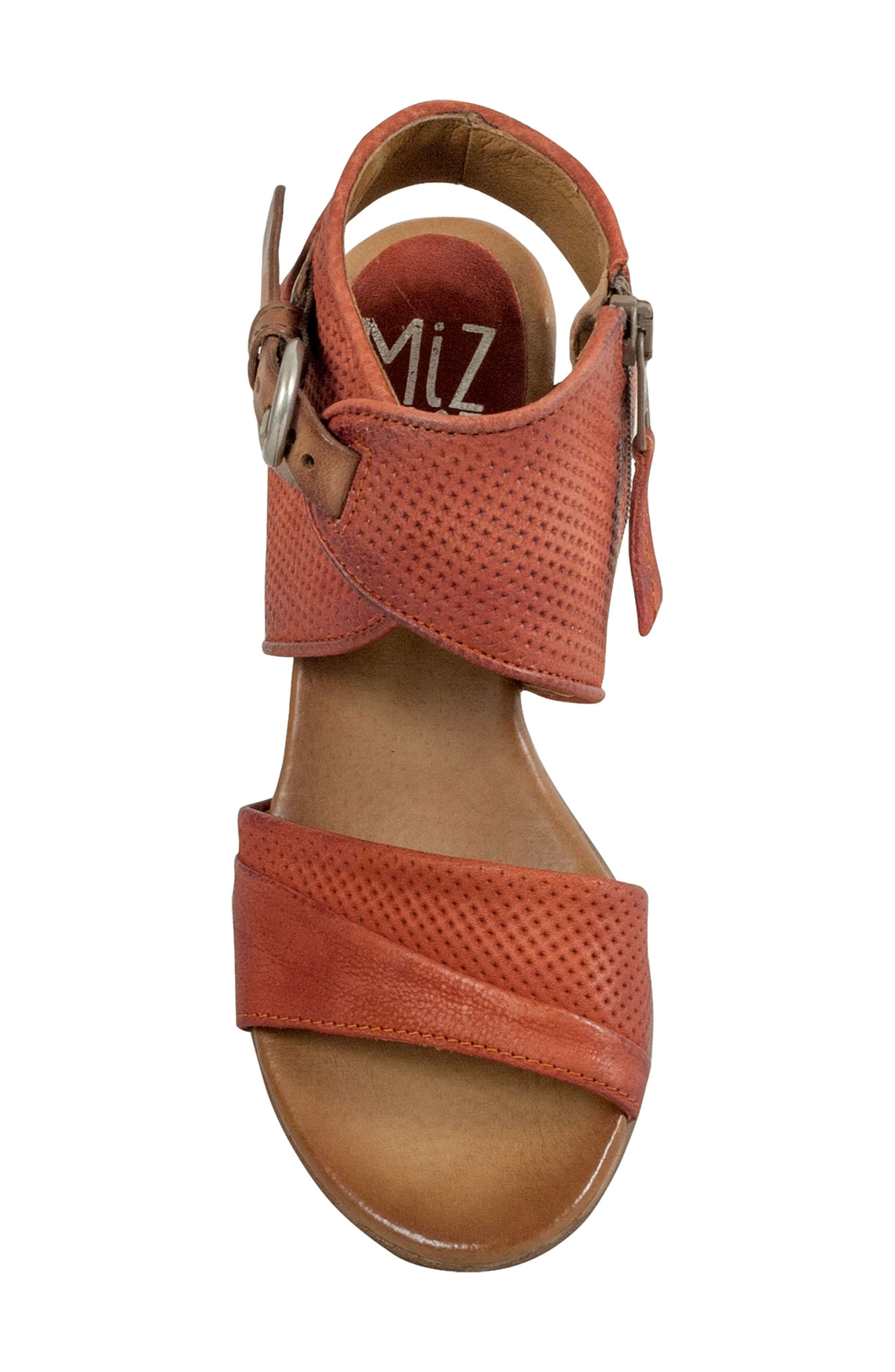 Chatham Textured Sandal,                             Alternate thumbnail 5, color,                             Rust Leather