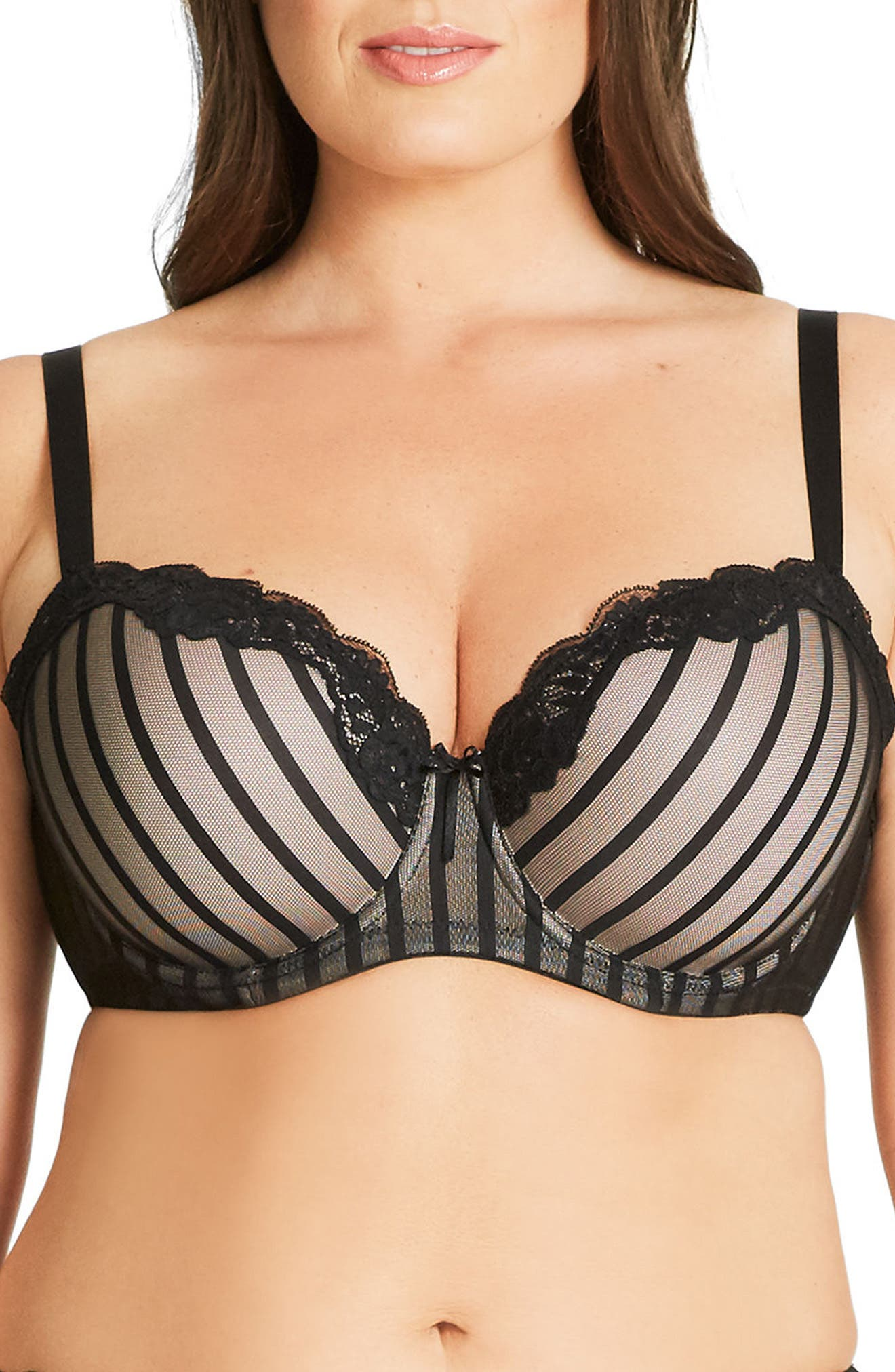 City Chic Fifi Underwire Balconette Bra (Plus Size)