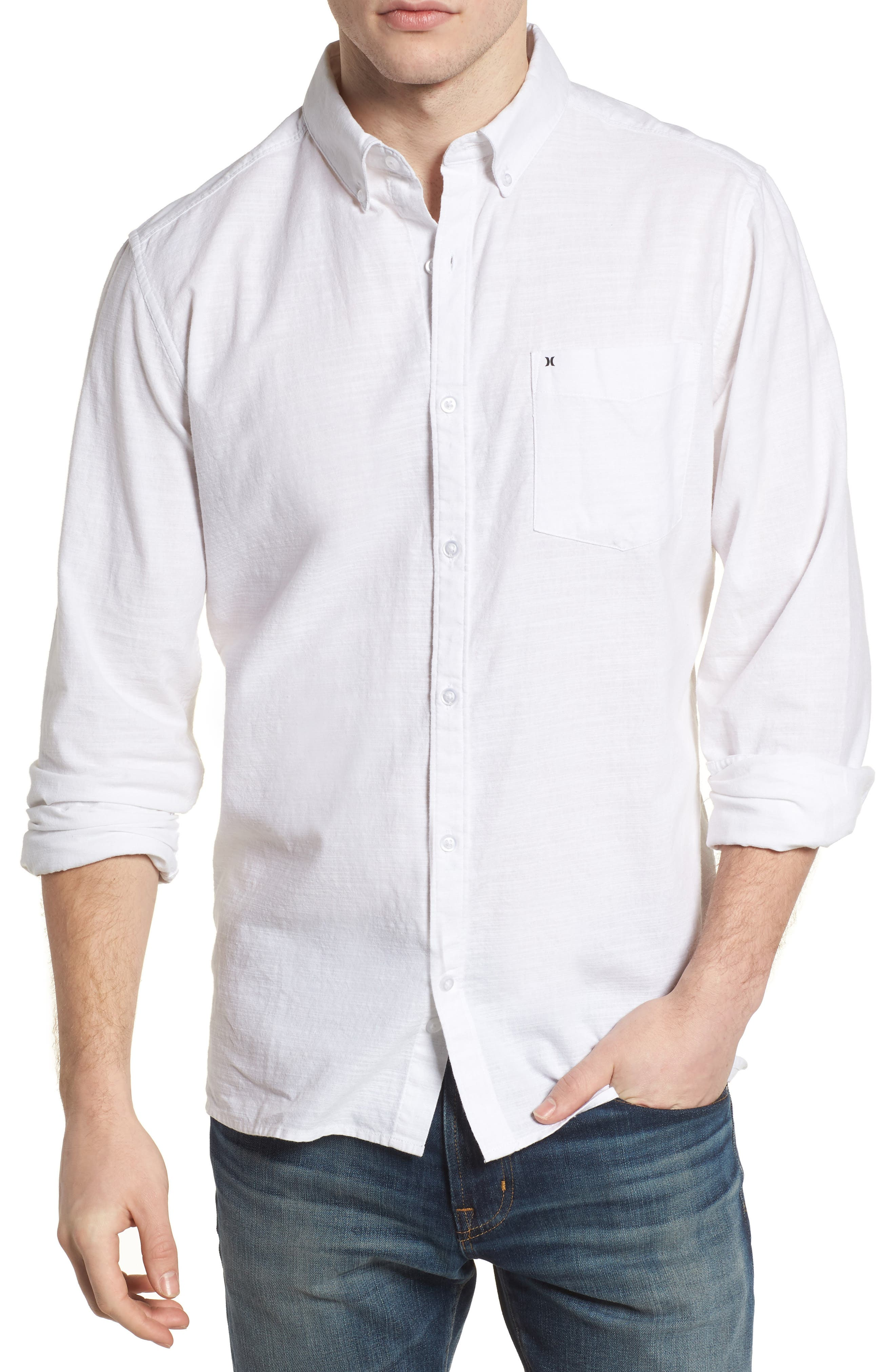 Alternate Image 1 Selected - Hurley One & Only 2.0 Woven Shirt