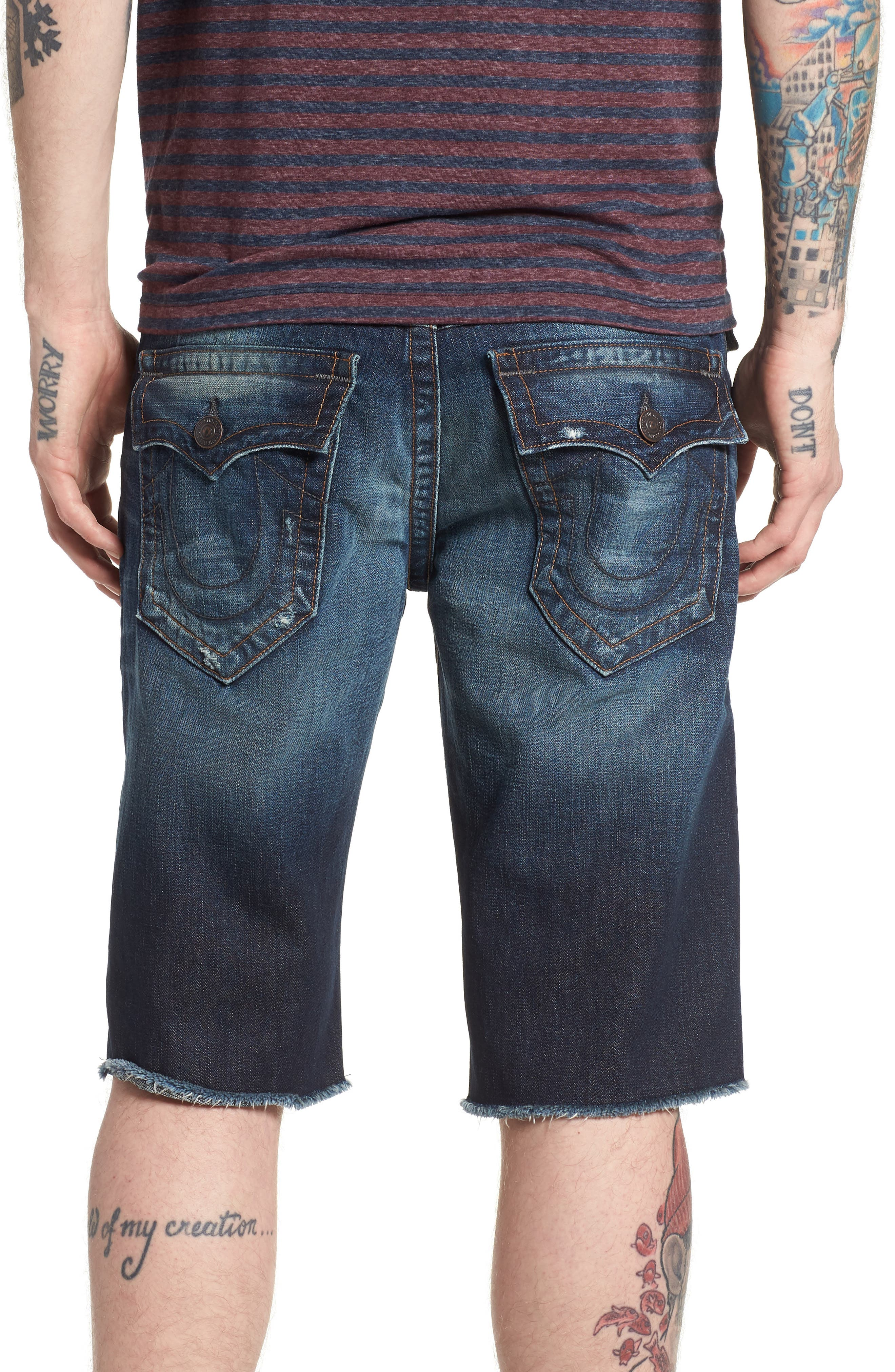 Ricky Relaxed Fit Denim Shorts,                             Alternate thumbnail 2, color,                             Eqrd Mignight Menace