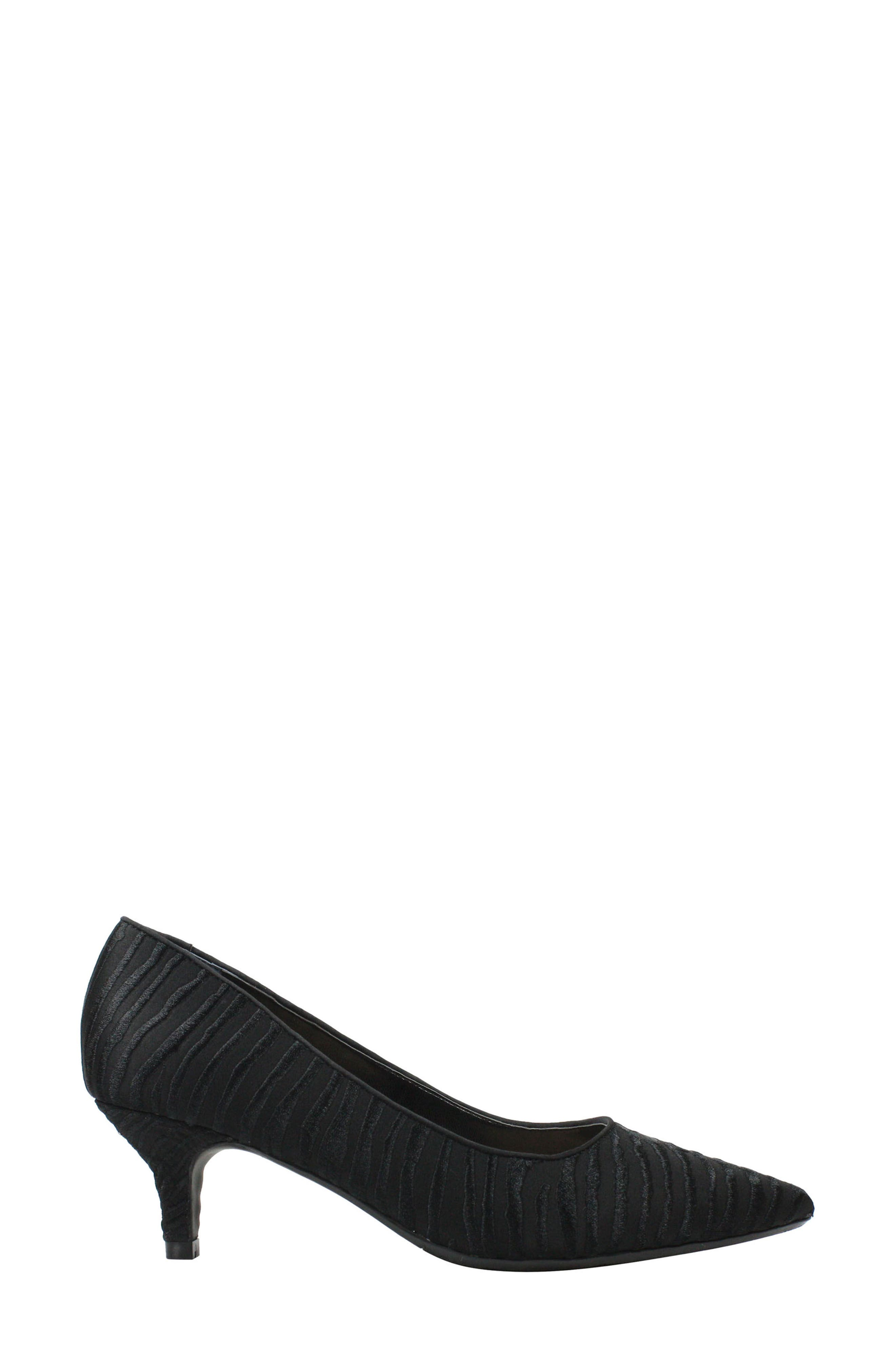 Zelaina Pump,                             Alternate thumbnail 3, color,                             Black/ Black Fabric