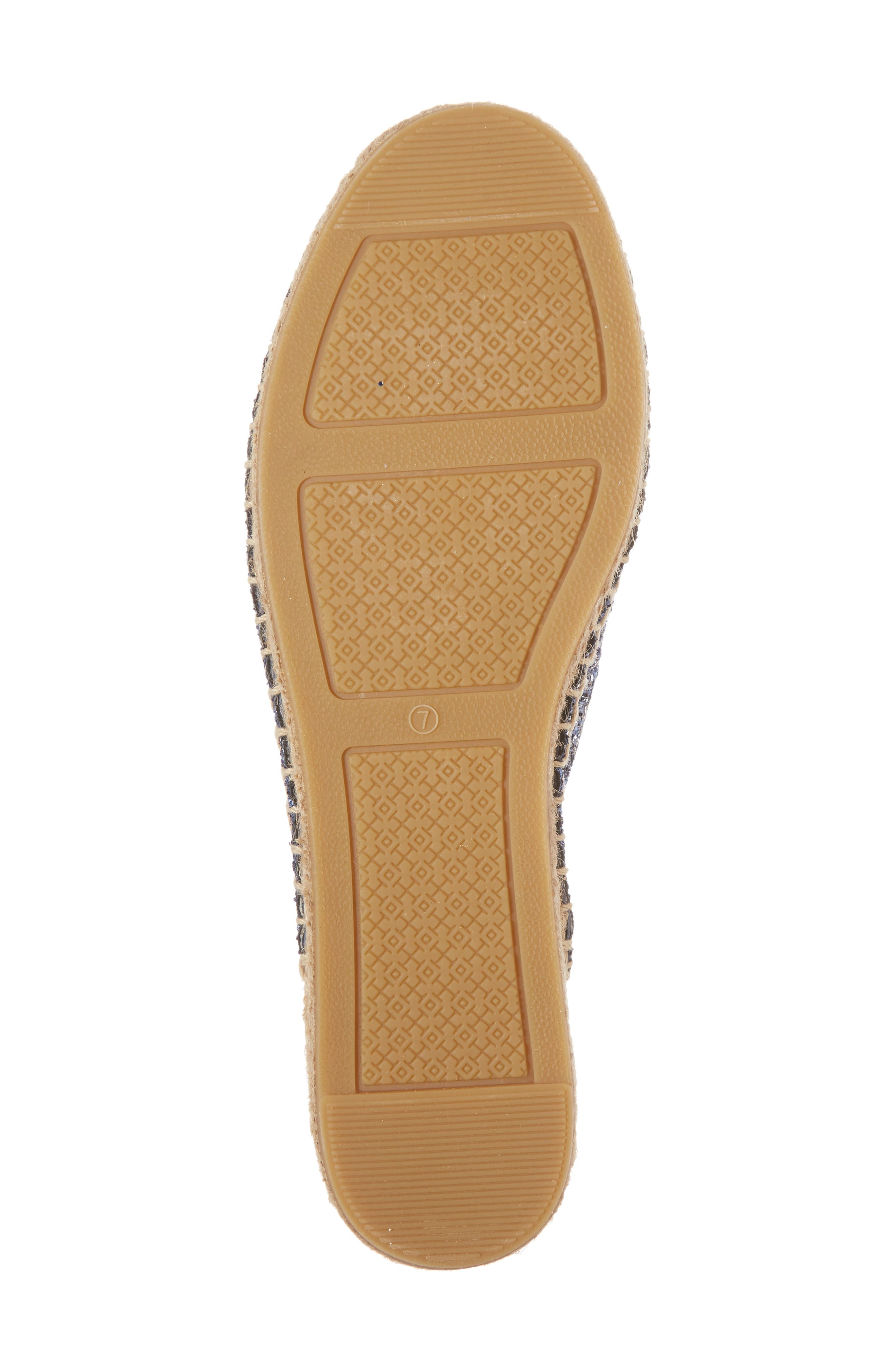 Max Glitter Espadrille Mule,                             Alternate thumbnail 6, color,                             Perfect Navy
