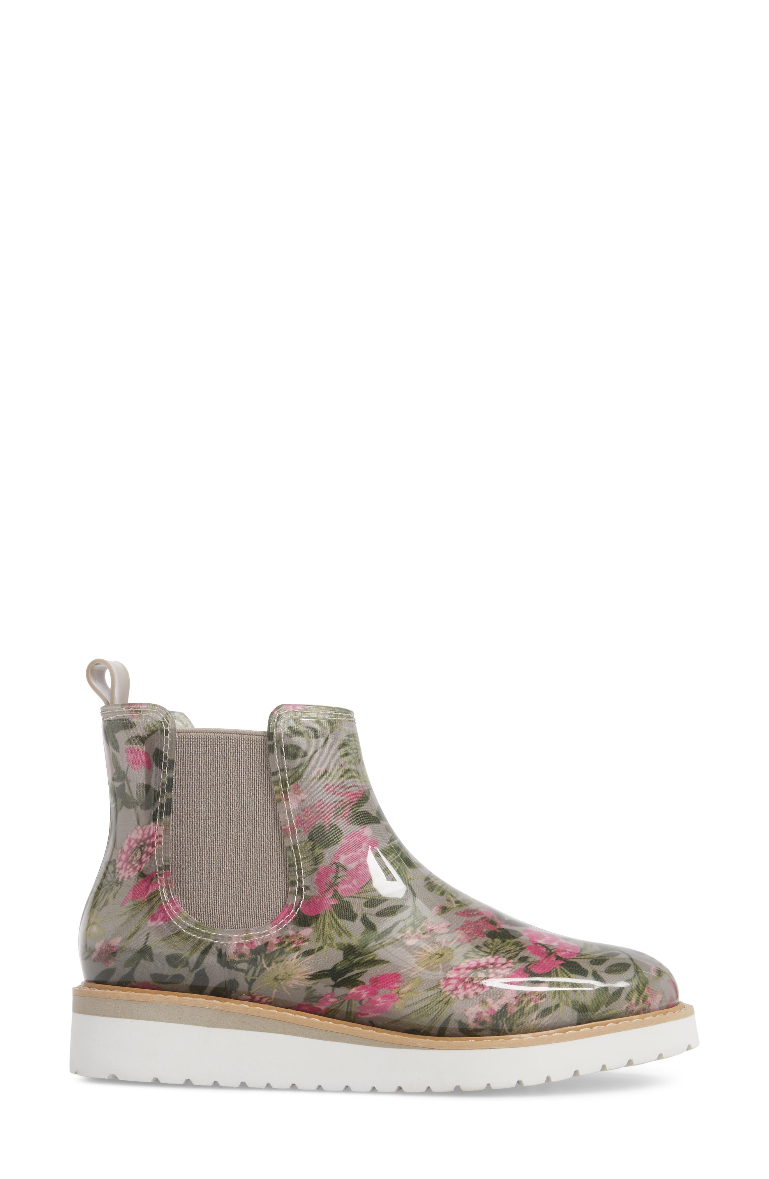 Kensington Chelsea Rain Boot,                             Alternate thumbnail 3, color,                             Tropical Floral
