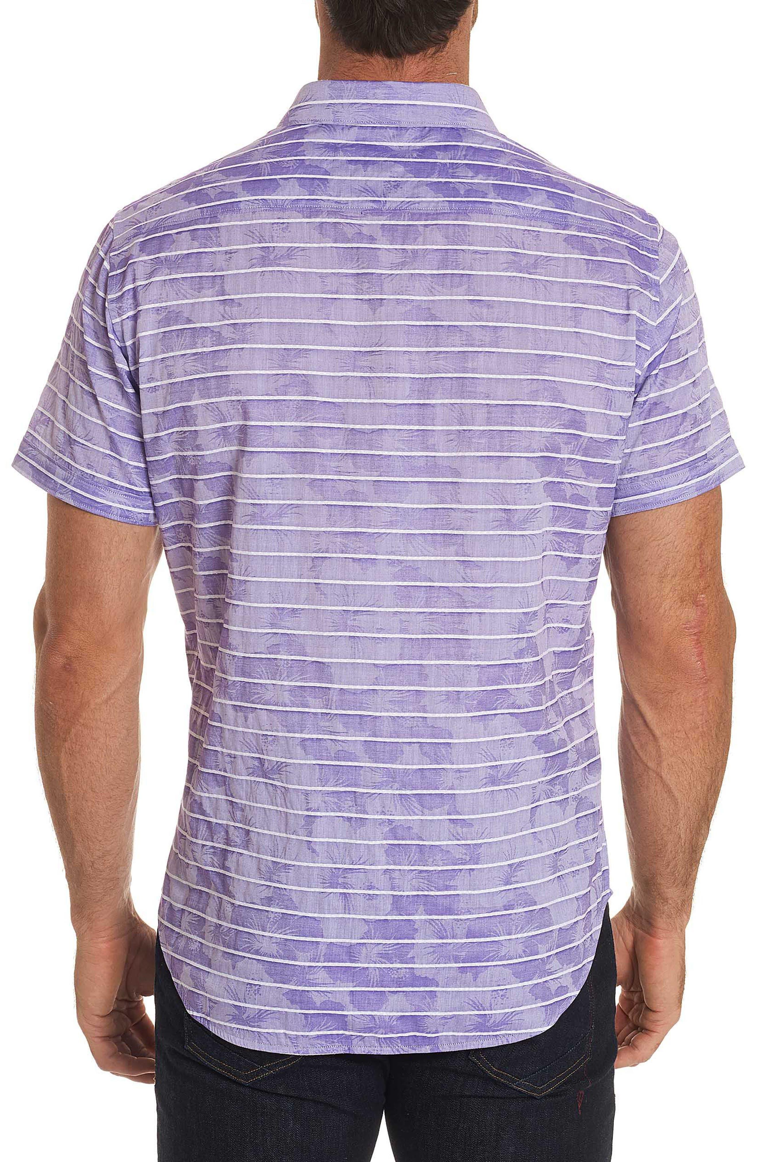 Avenida Classic Fit Jacquard Sport Shirt,                             Alternate thumbnail 2, color,                             Purple