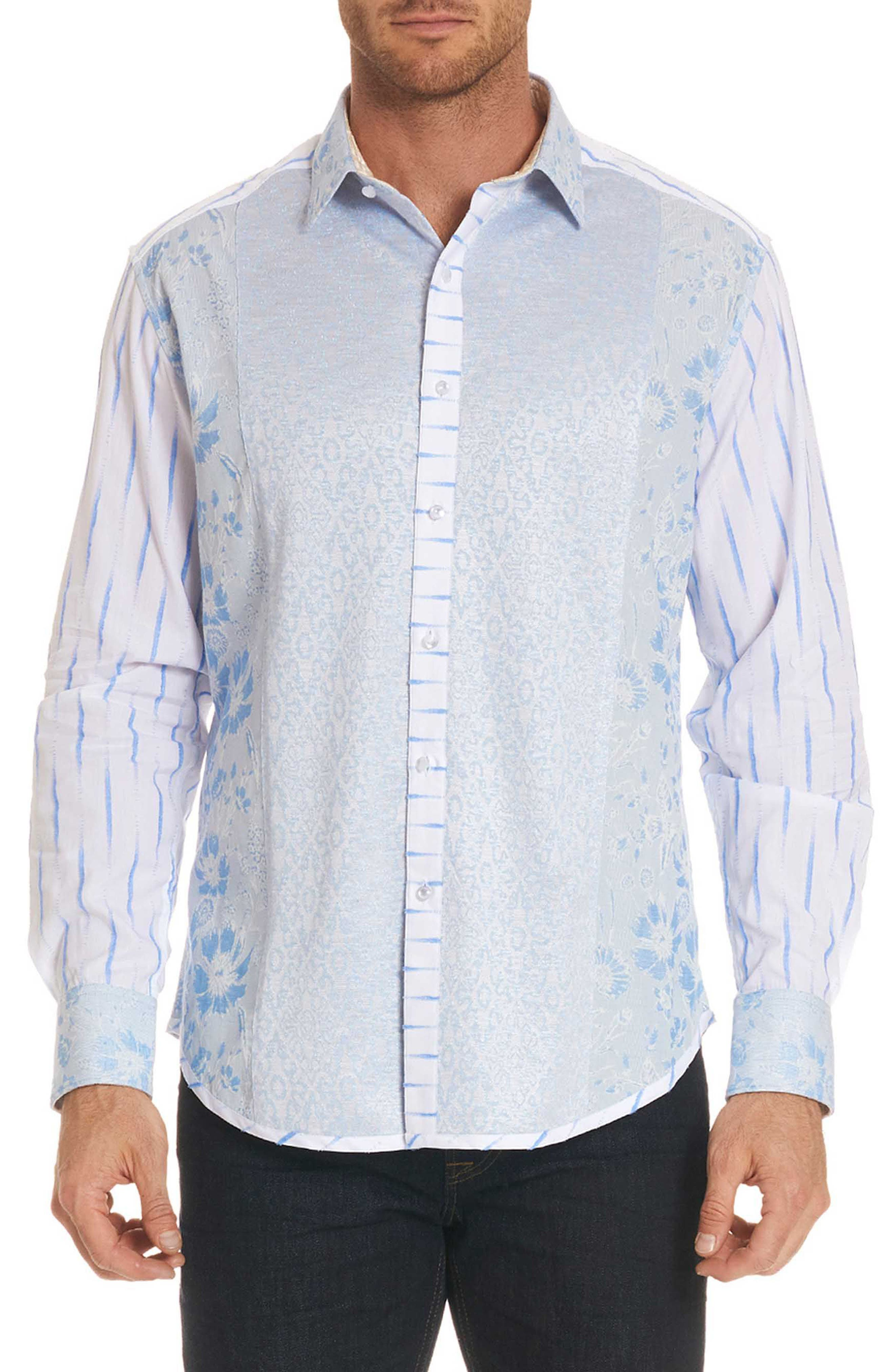Ryan Limited Edition Classic Fit Sport Shirt,                         Main,                         color, Blue