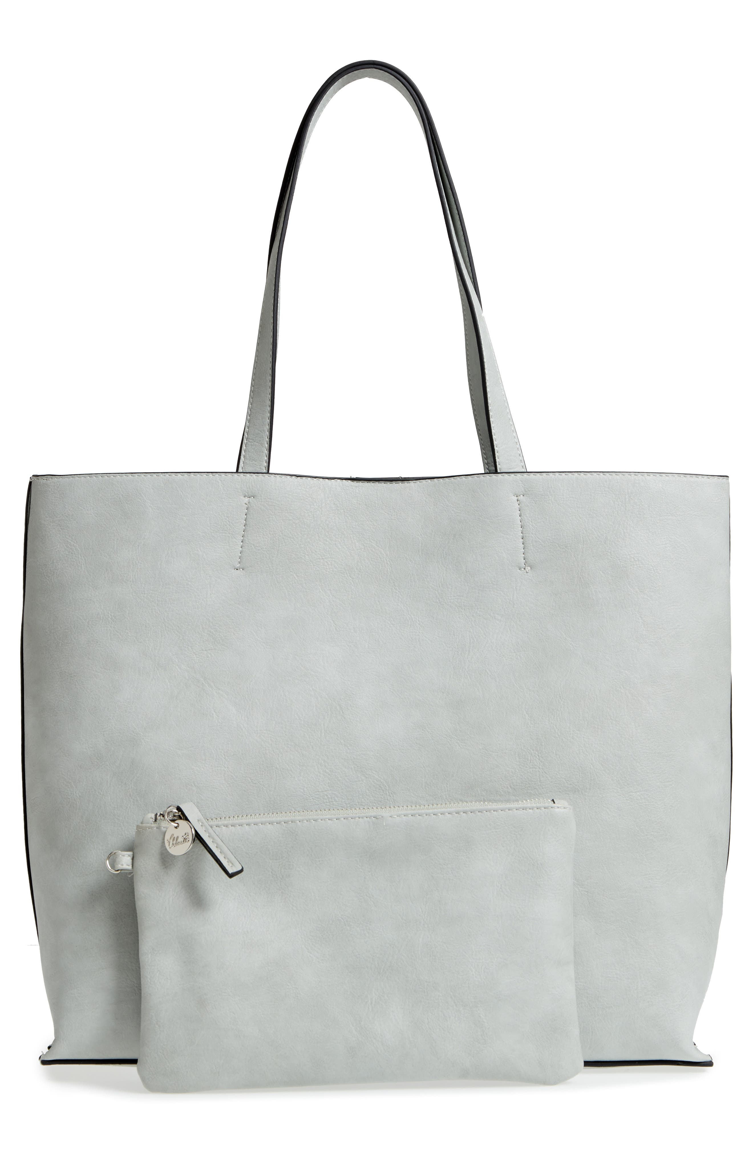 Alternate Image 3  - Chelsea28 Leigh Faux Leather Tote & Zip Pouch