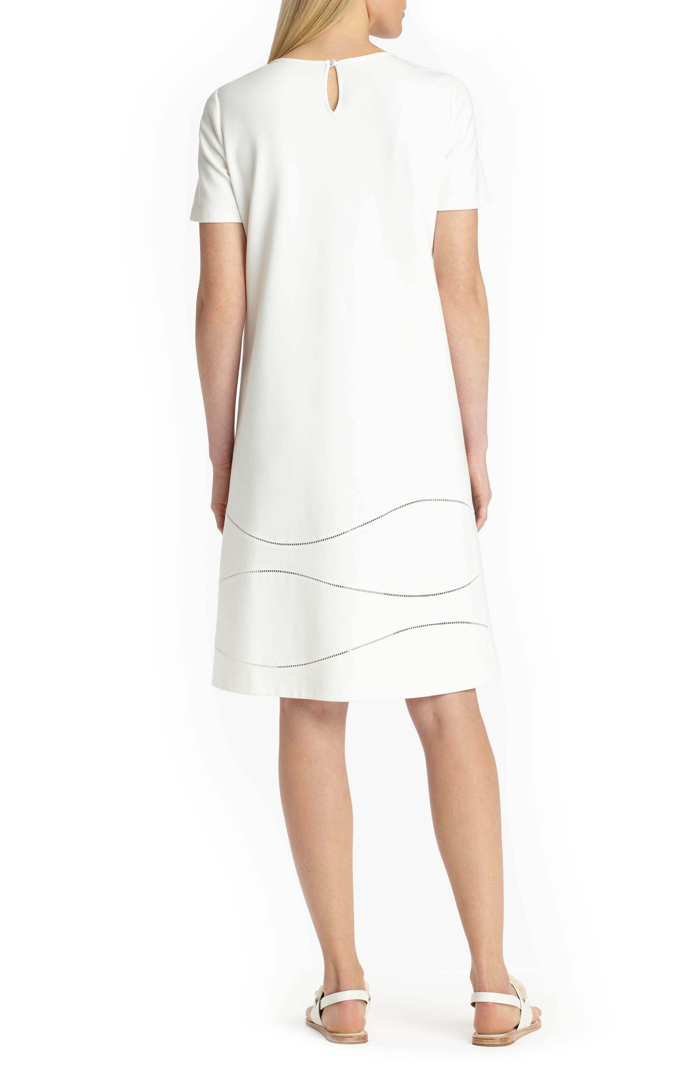 Jasmin A-Line Dress,                             Alternate thumbnail 2, color,                             White