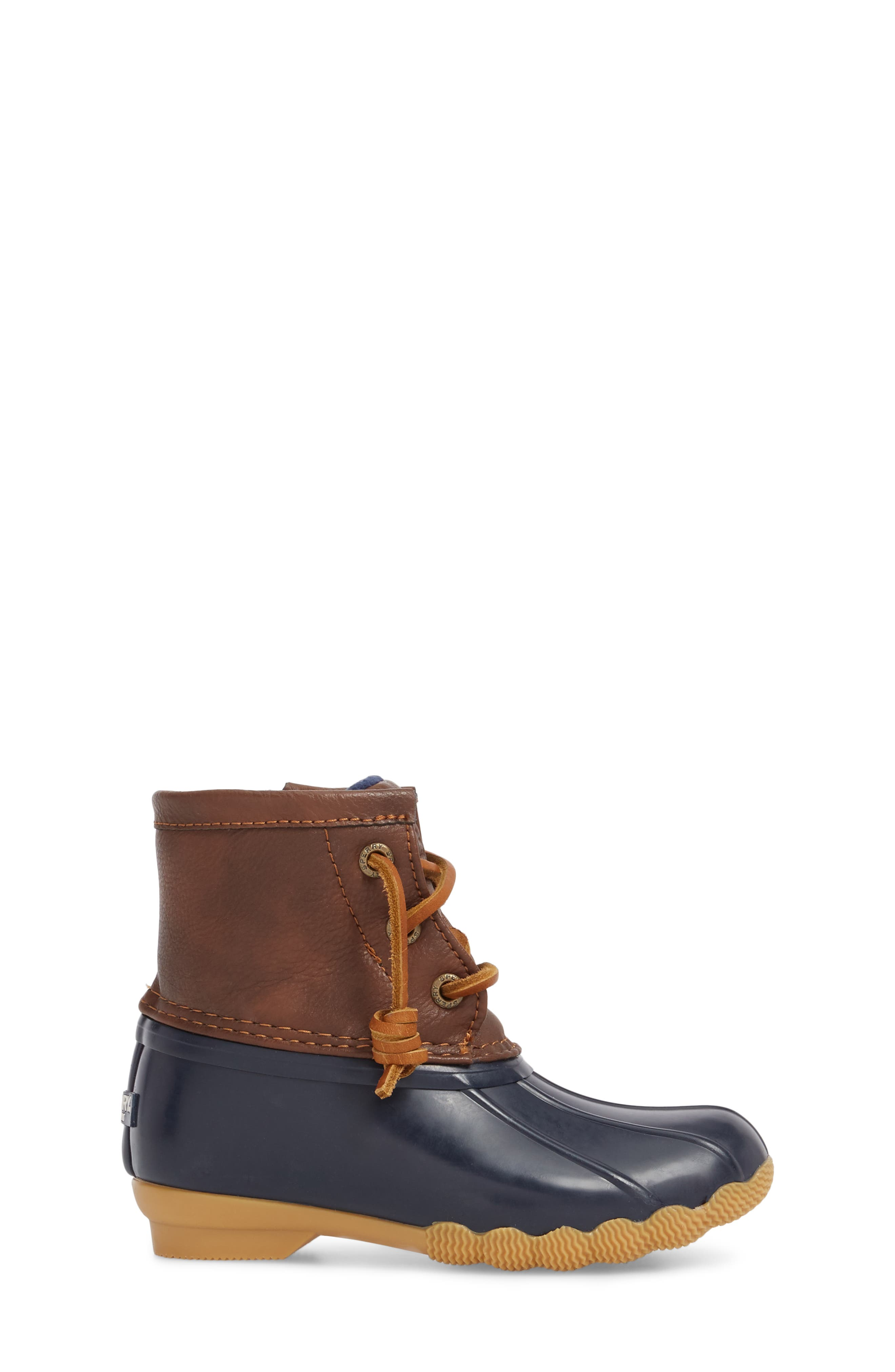 Saltwater Duck Boot,                             Alternate thumbnail 3, color,                             Navy/ Navy