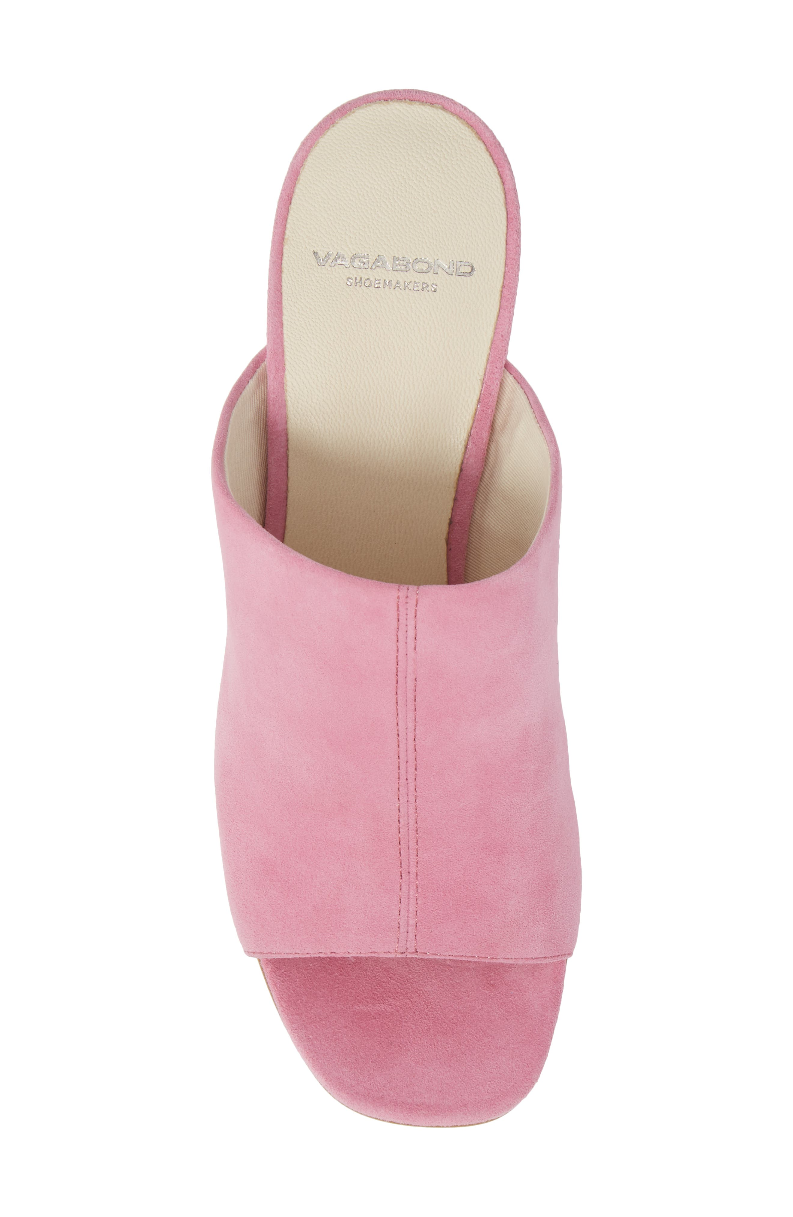 Saide Slide Sandal,                             Alternate thumbnail 5, color,                             Pink Suede