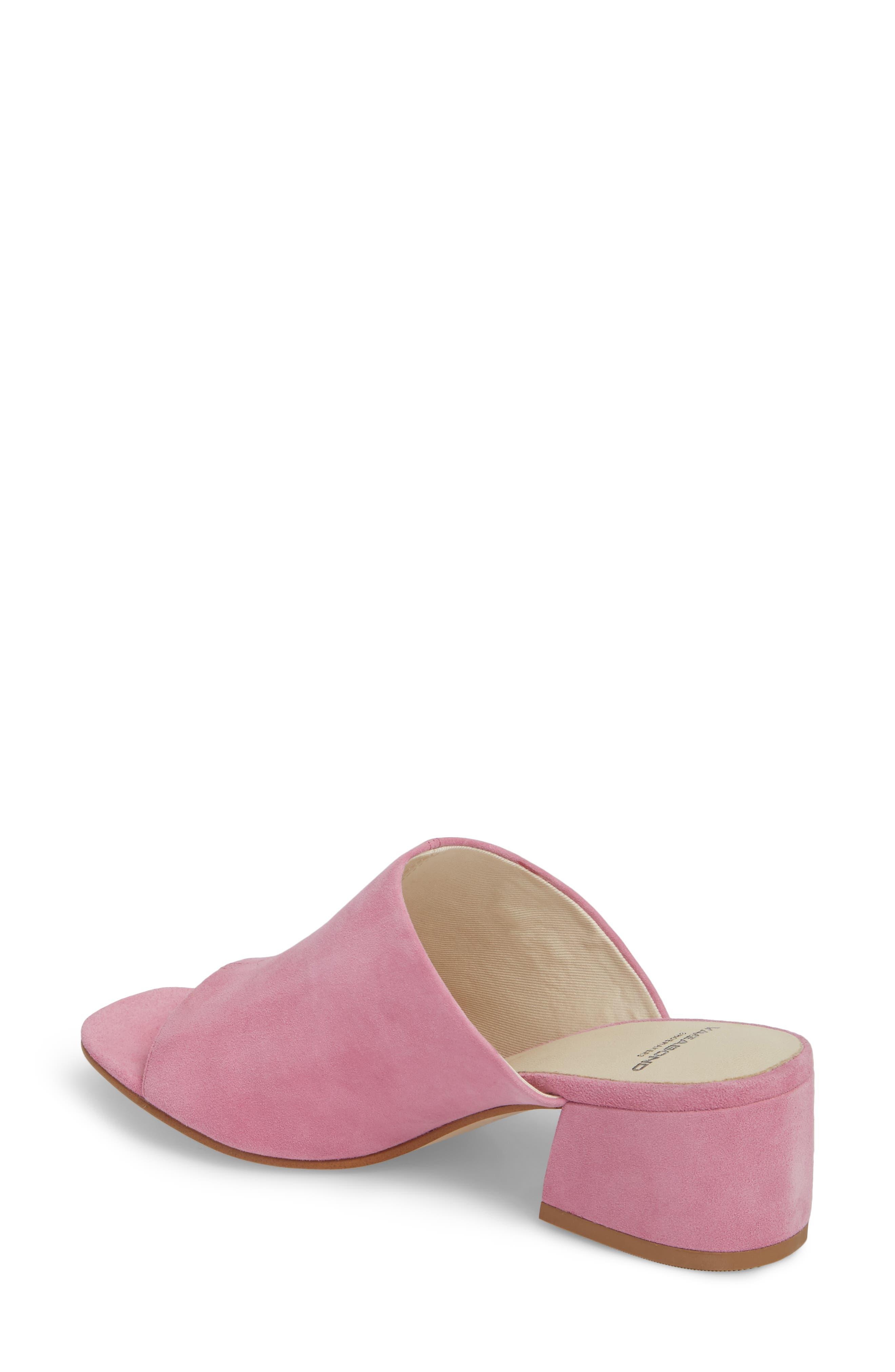 Saide Slide Sandal,                             Alternate thumbnail 2, color,                             Pink Suede