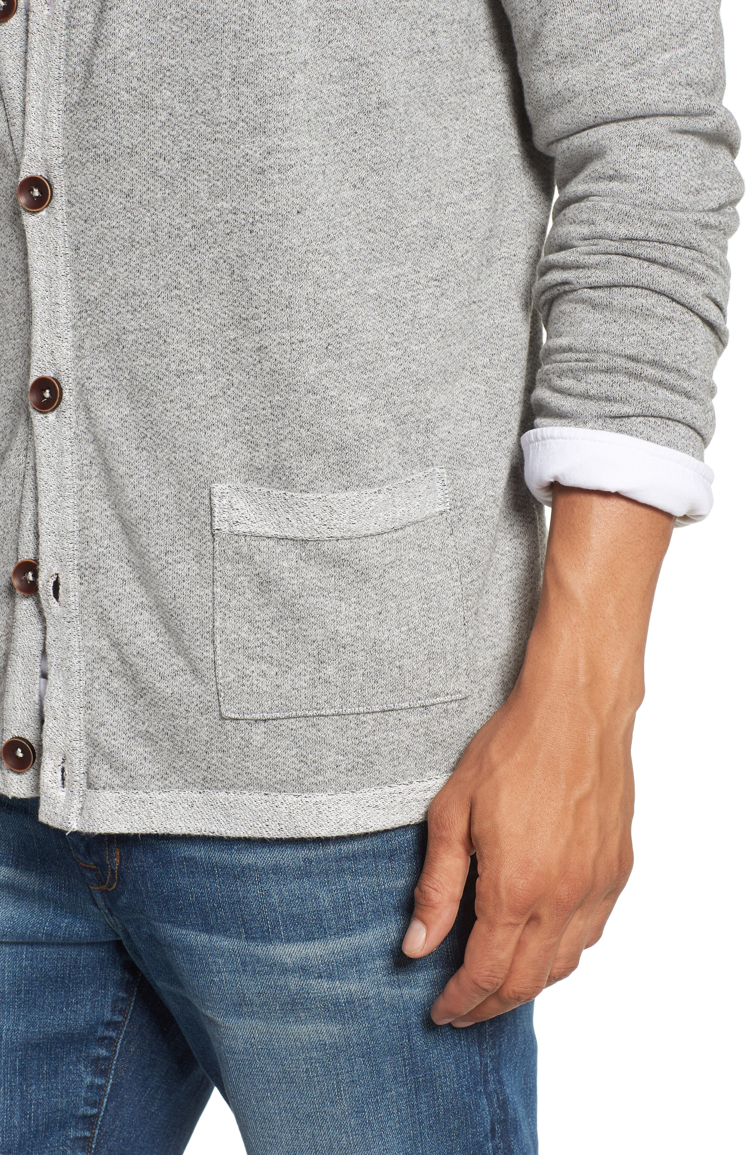 Cardigan,                             Alternate thumbnail 4, color,                             Heather Grey
