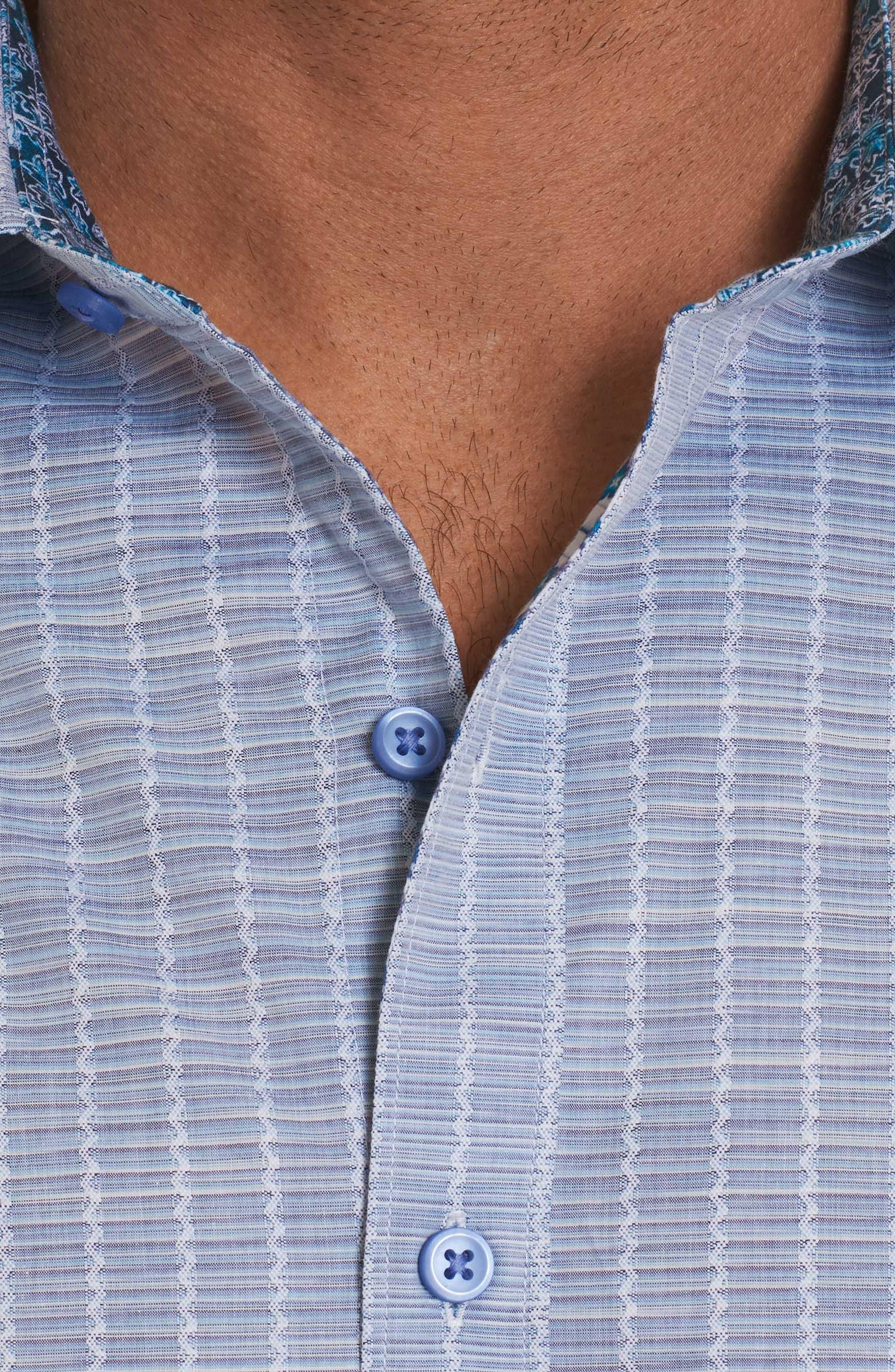 Cano Classic Fit Sport Shirt,                             Alternate thumbnail 4, color,                             Blue