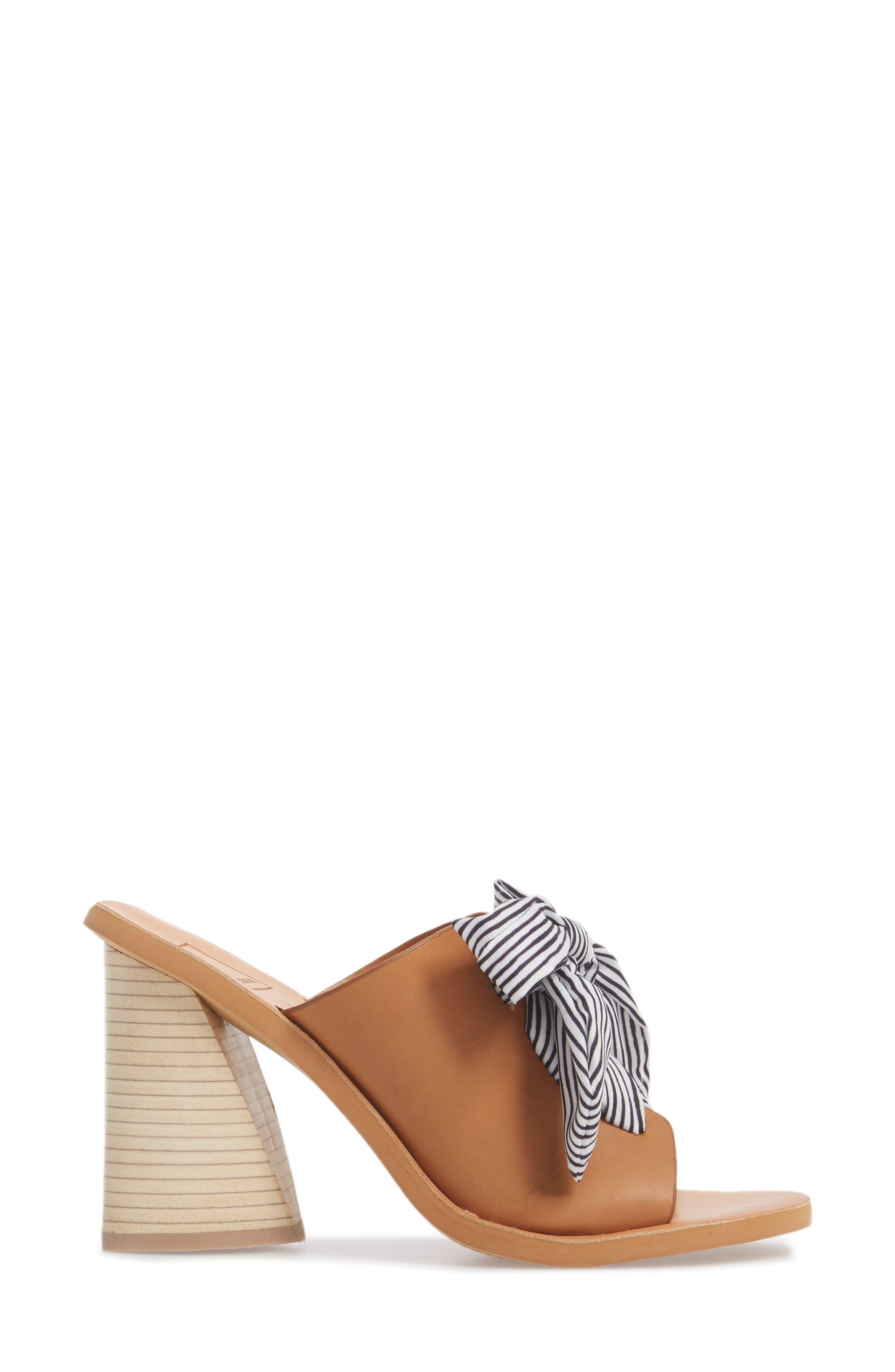 Amber Lace-Up Sandal,                             Alternate thumbnail 3, color,                             Caramel Leather