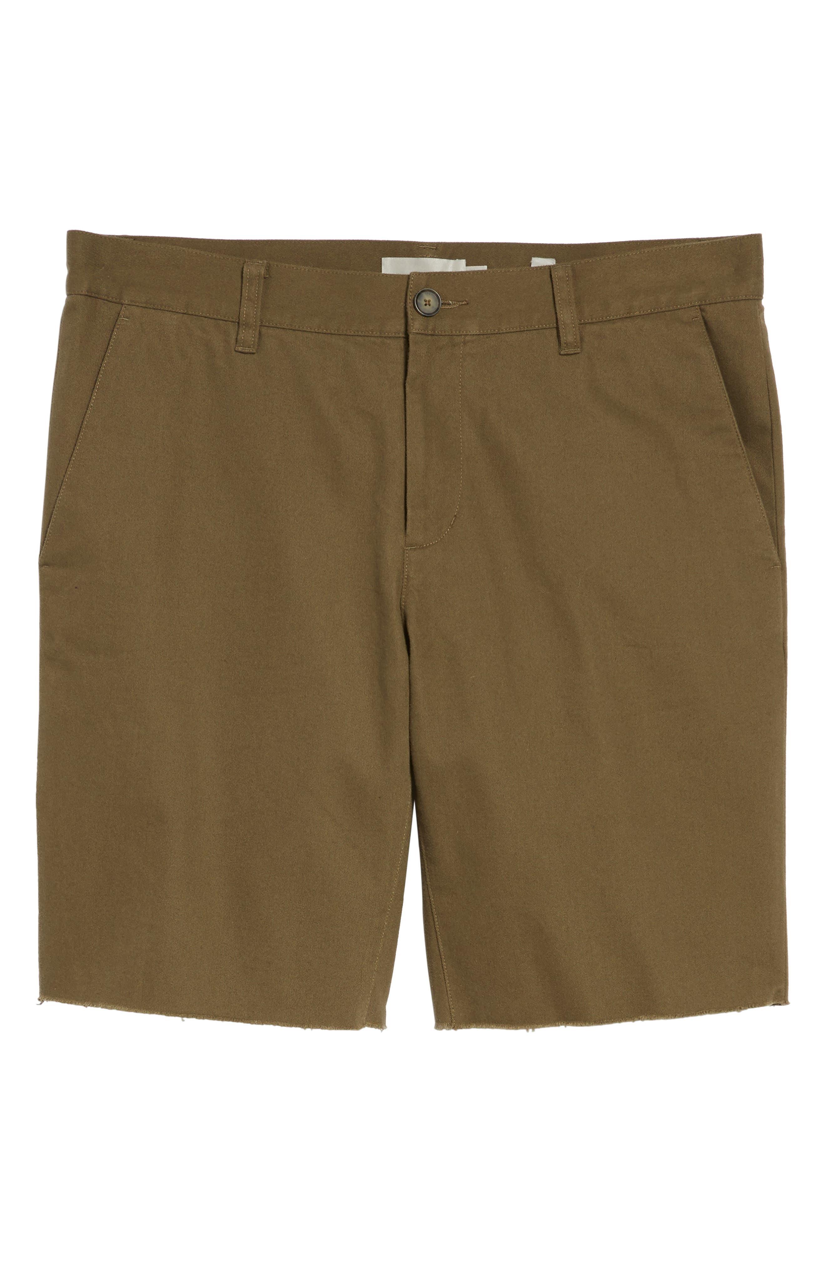 Slim Fit Chino Shorts,                             Alternate thumbnail 6, color,                             Camp Green
