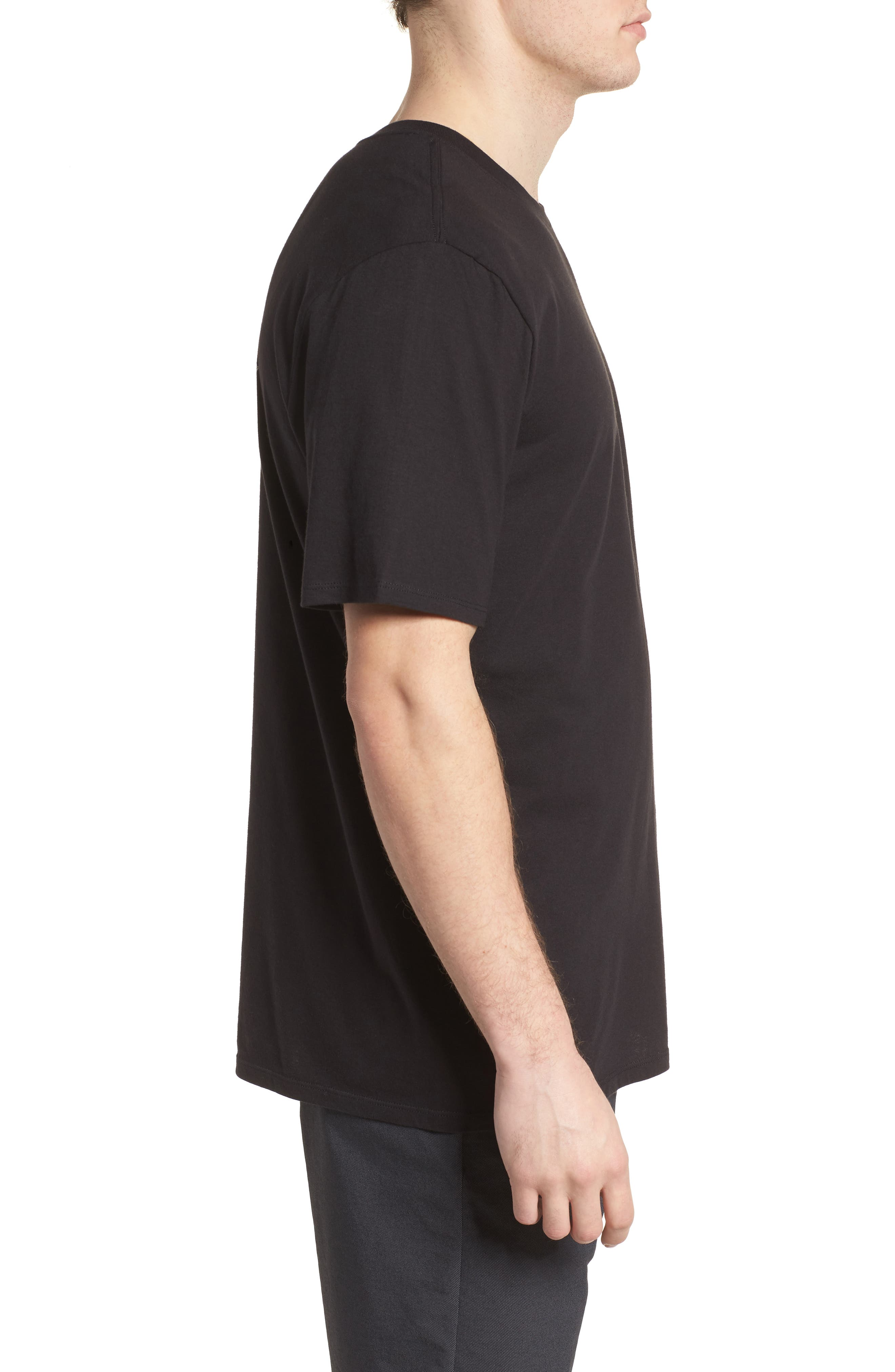 Surfin' Bird T-Shirt,                             Alternate thumbnail 3, color,                             Black