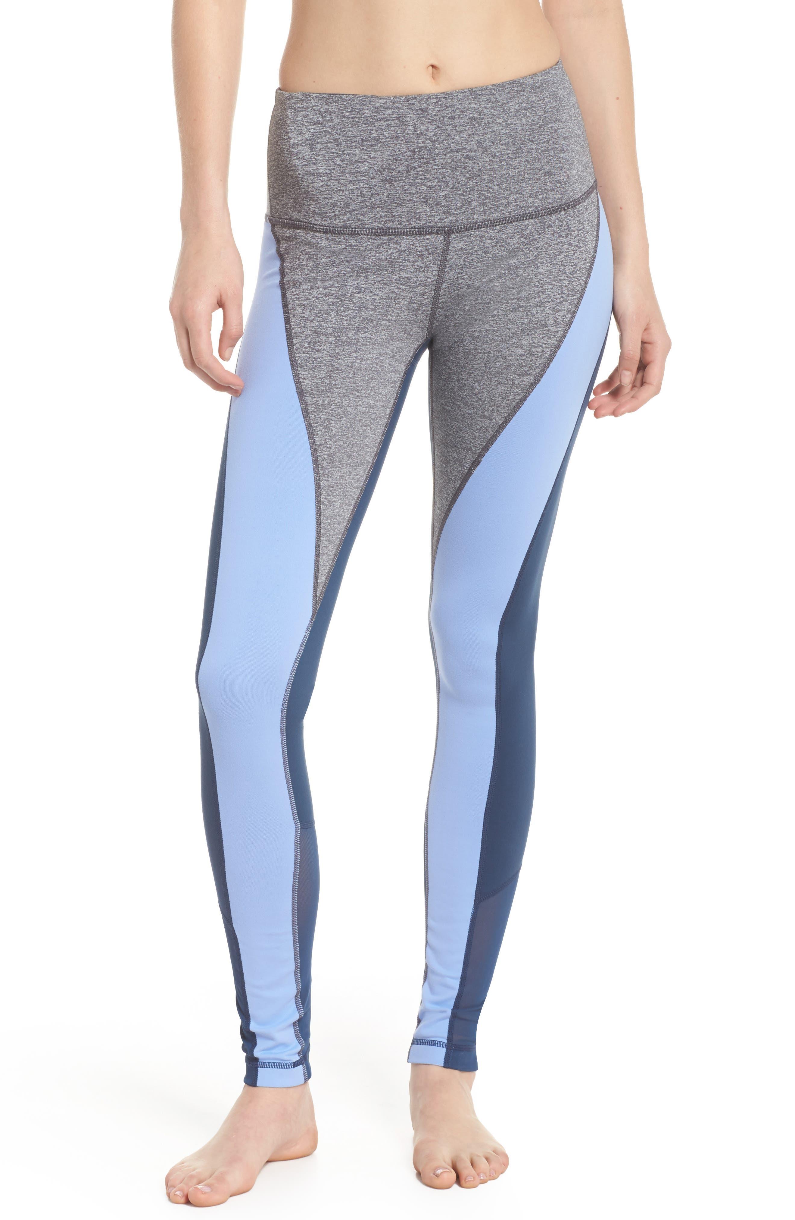 Get in Line High Waist Leggings,                         Main,                         color, Grey Graphite Melange