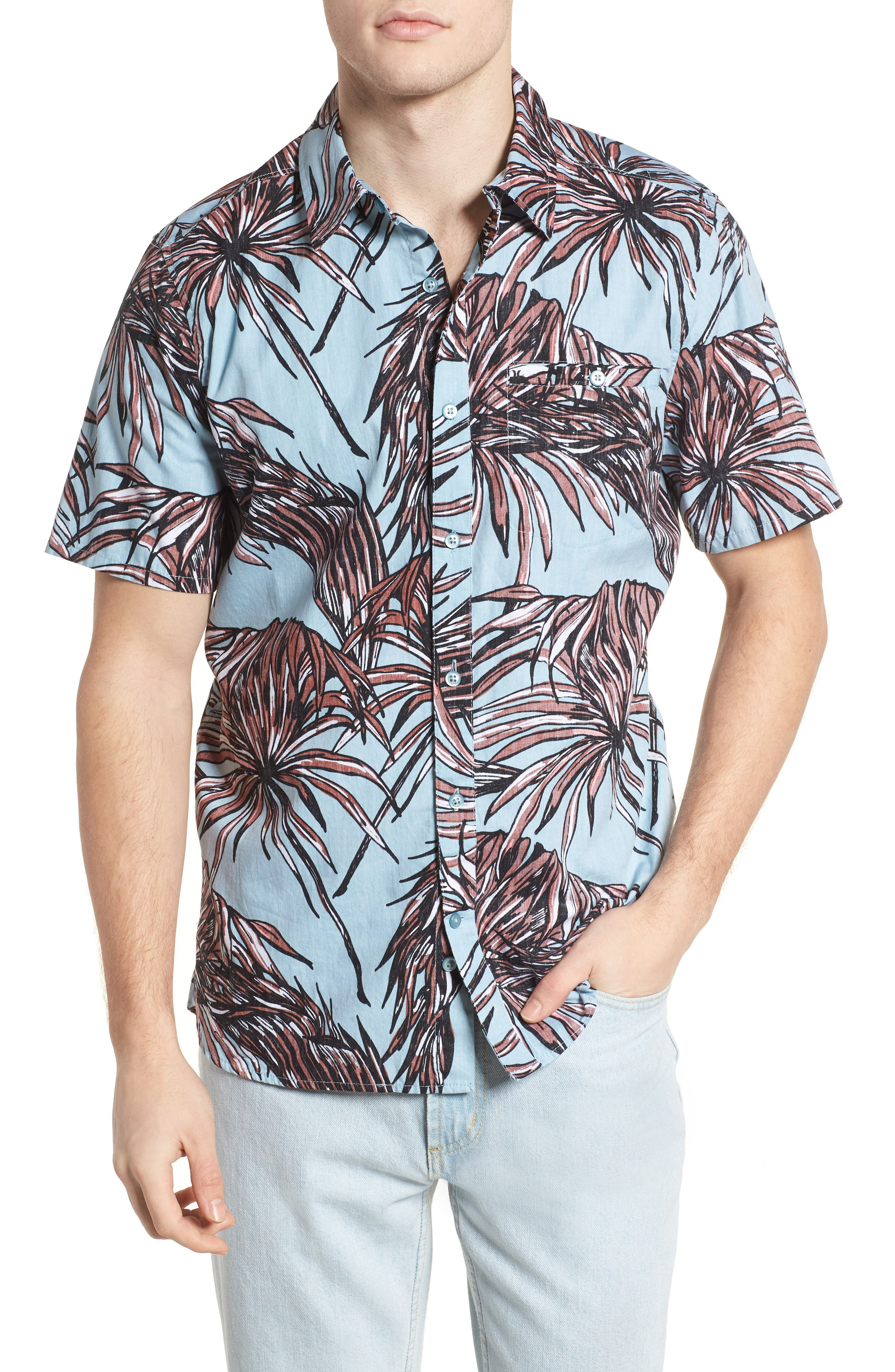 Koko Shirt,                         Main,                         color, Ocean Bliss