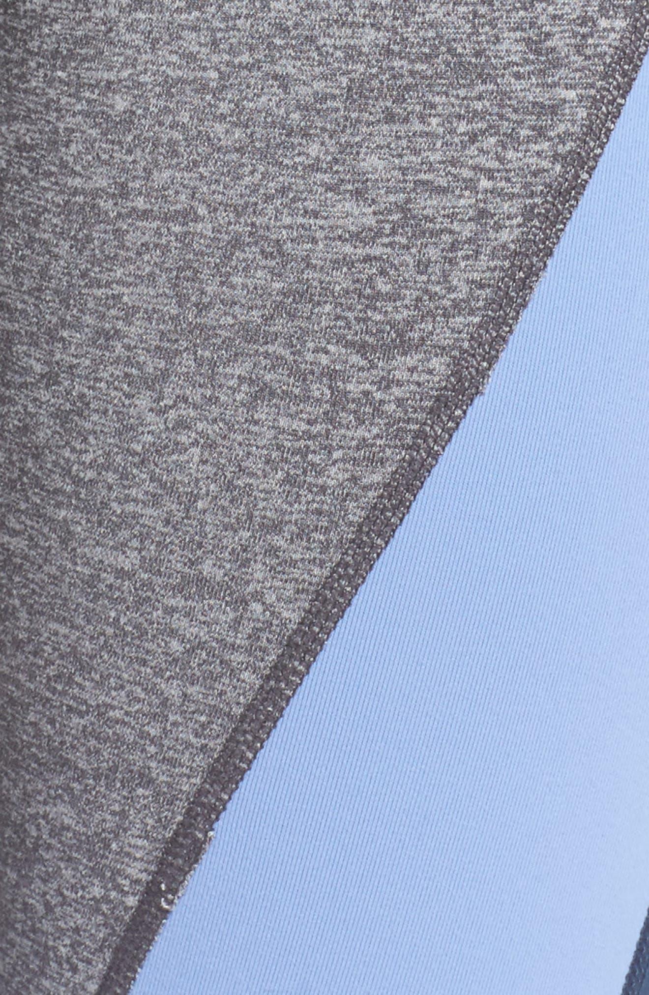 Get in Line High Waist Leggings,                             Alternate thumbnail 6, color,                             Grey Graphite Melange