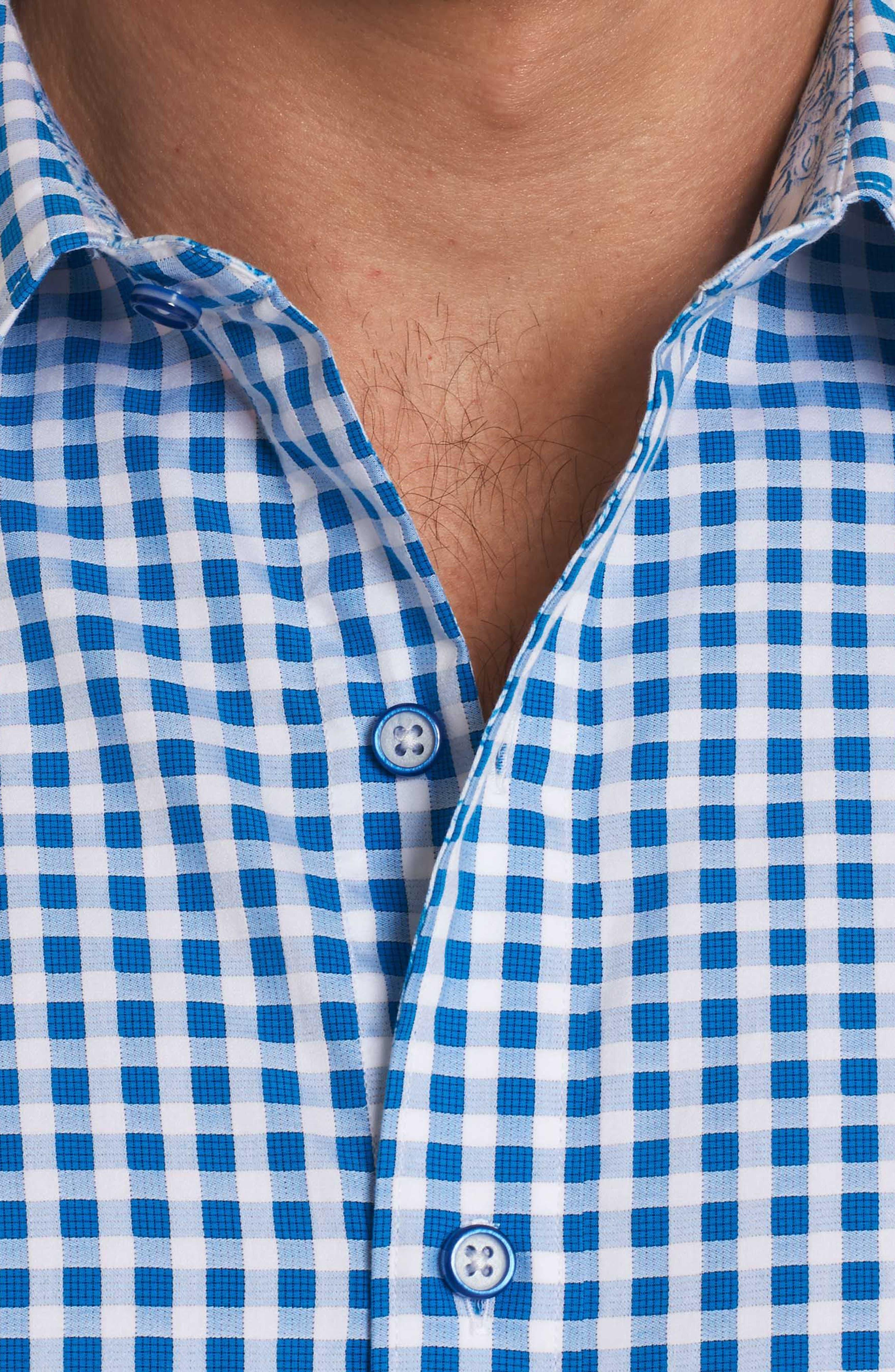 Morales Classic Fit Sport Shirt,                             Alternate thumbnail 4, color,                             Blue