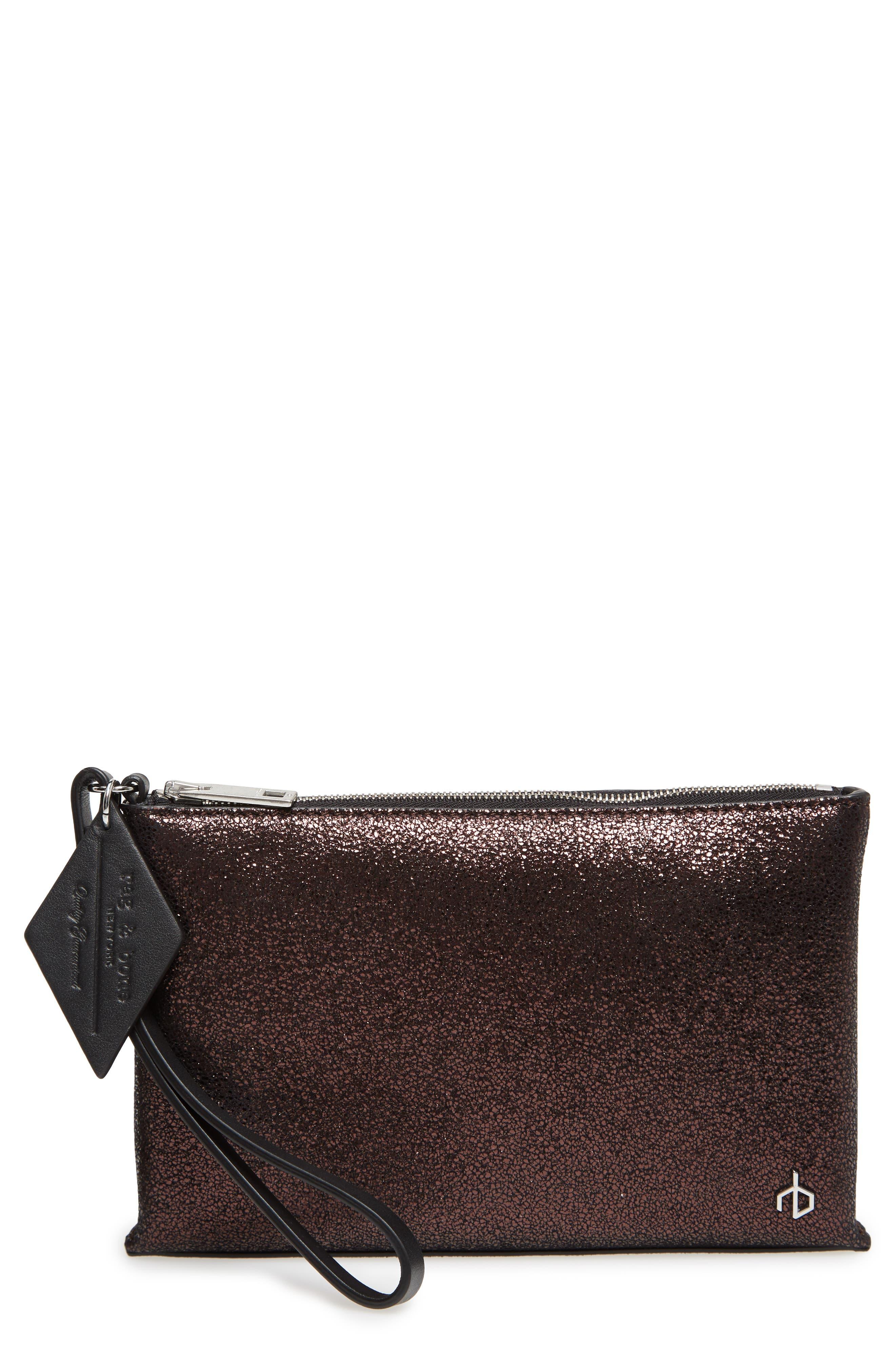 rag & bone Leather Wristlet Pouch