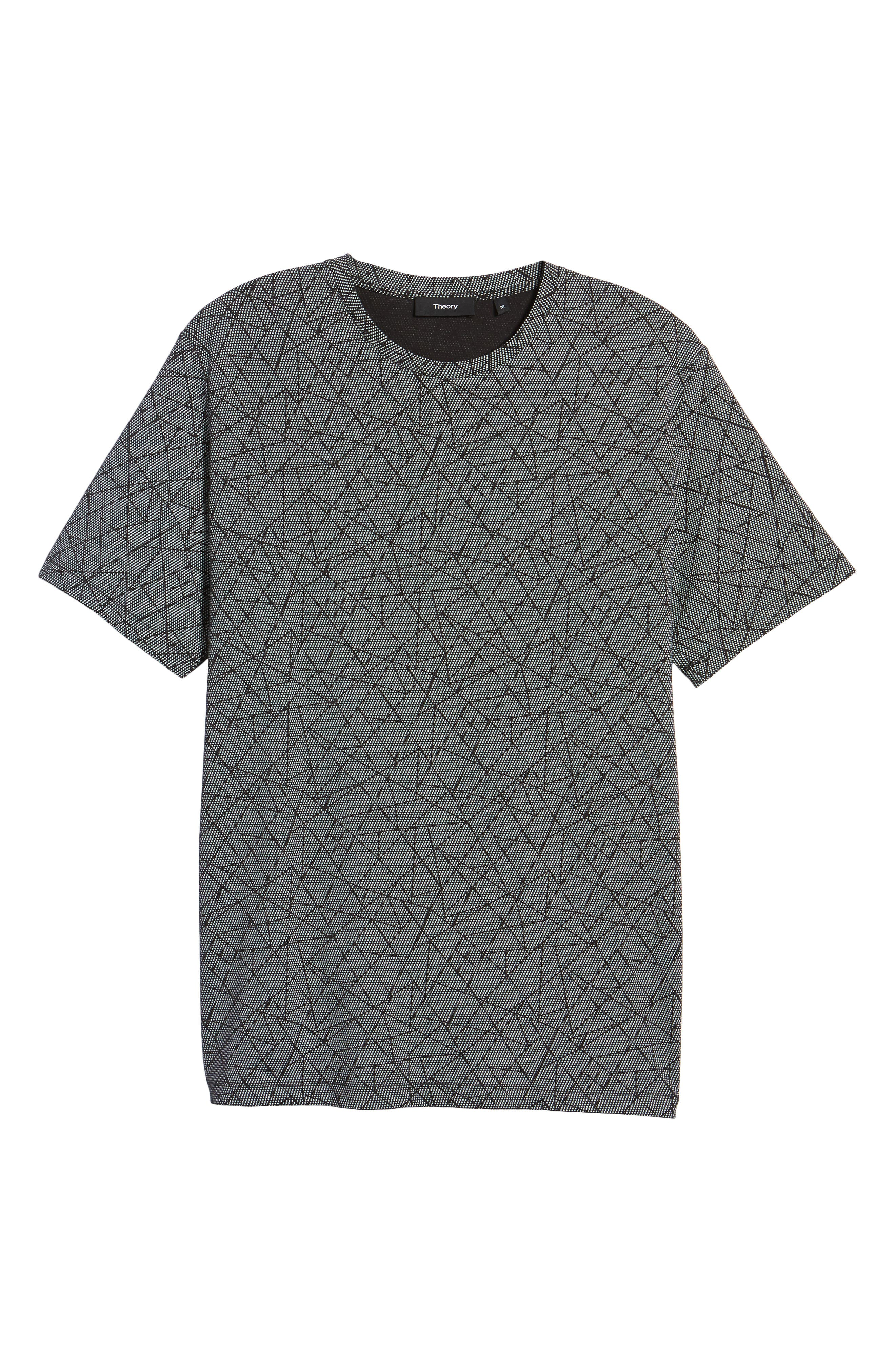 Clean T-Shirt,                             Alternate thumbnail 5, color,                             Black/ White