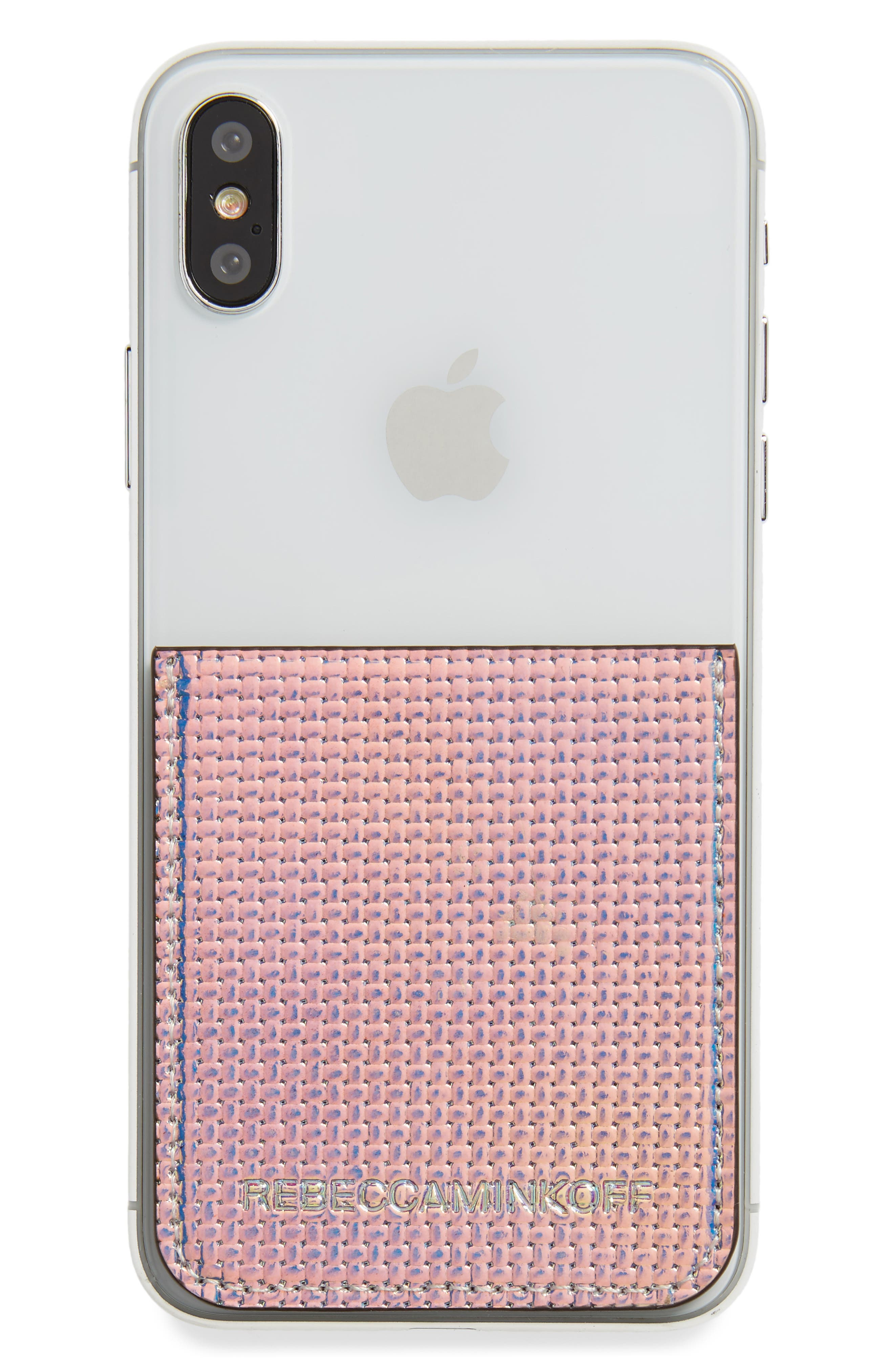 Adhesive Phone Sticker Pocket,                         Main,                         color, Holographic